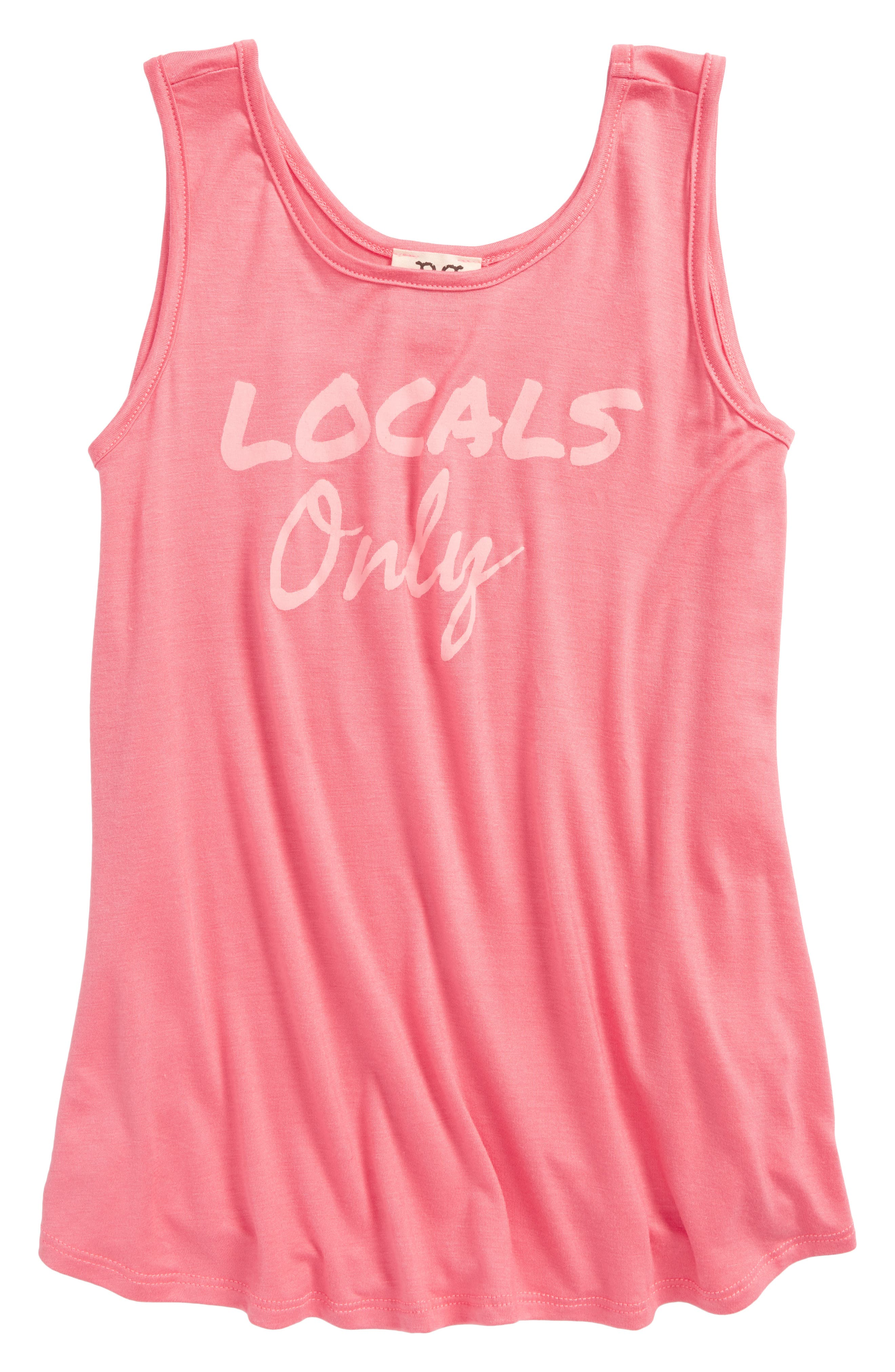 Locals Only Swing Tank,                             Main thumbnail 1, color,                             Coral
