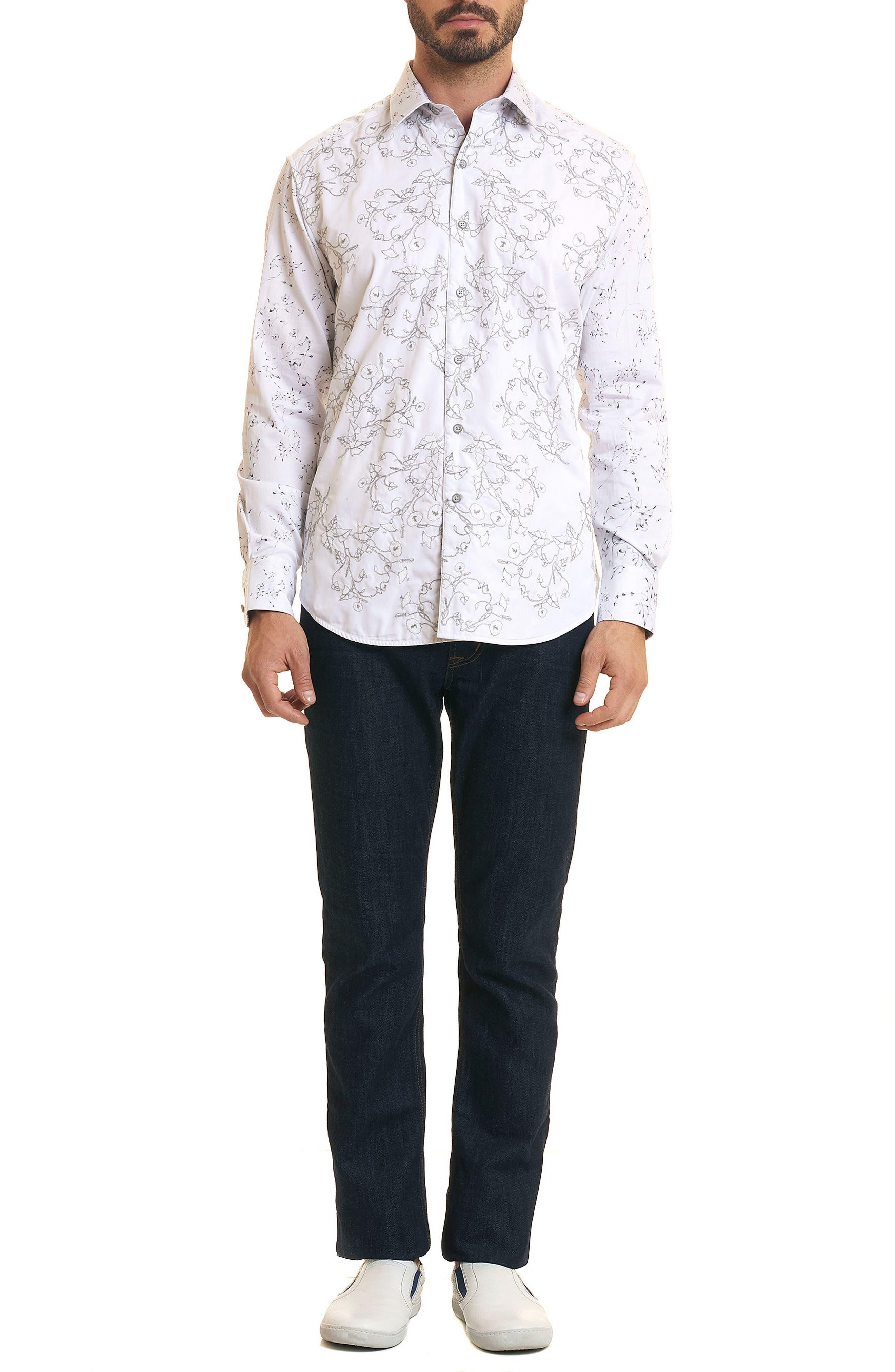 De La Cruz Classic Fit Sport Shirt,                             Alternate thumbnail 5, color,                             White