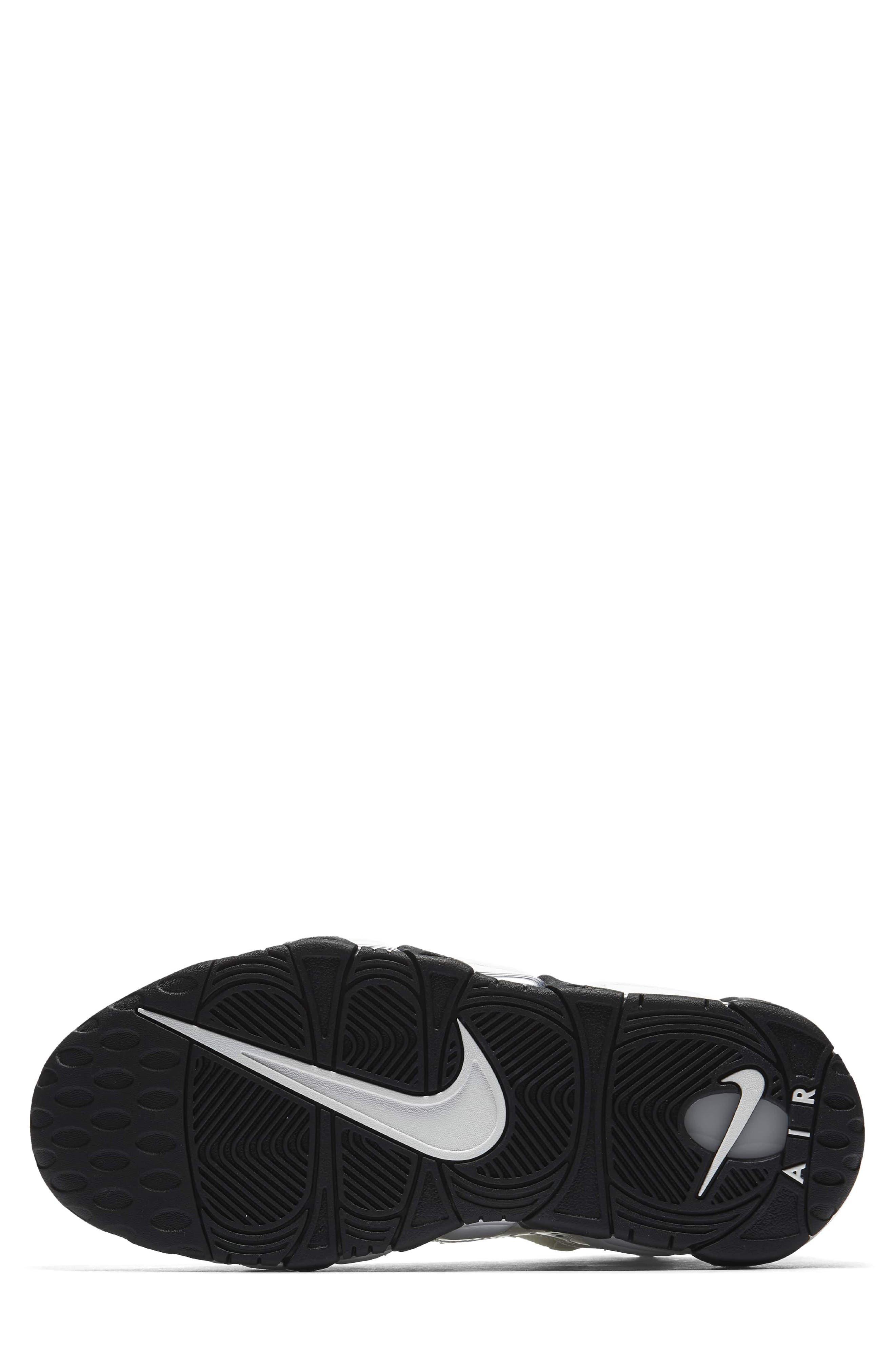 Air More Money LX Sneaker,                             Alternate thumbnail 5, color,                             Summit White/ Black