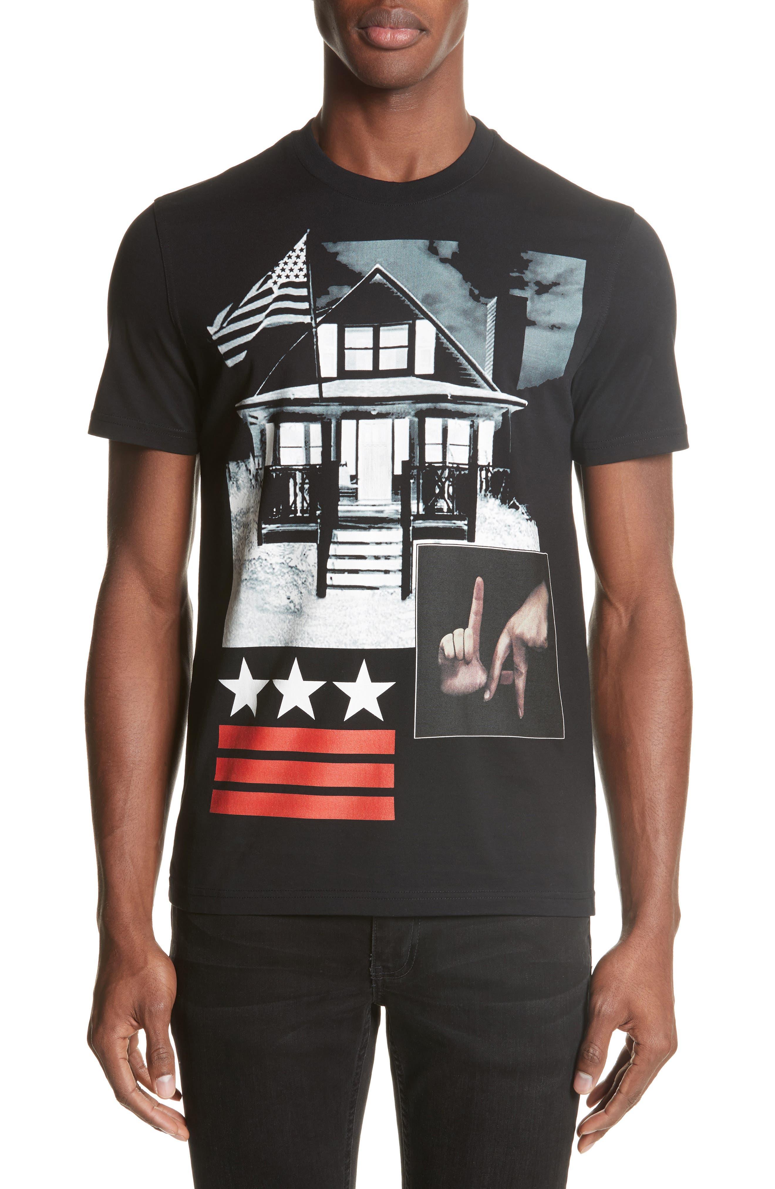 LA House Graphic T-Shirt,                         Main,                         color, Black