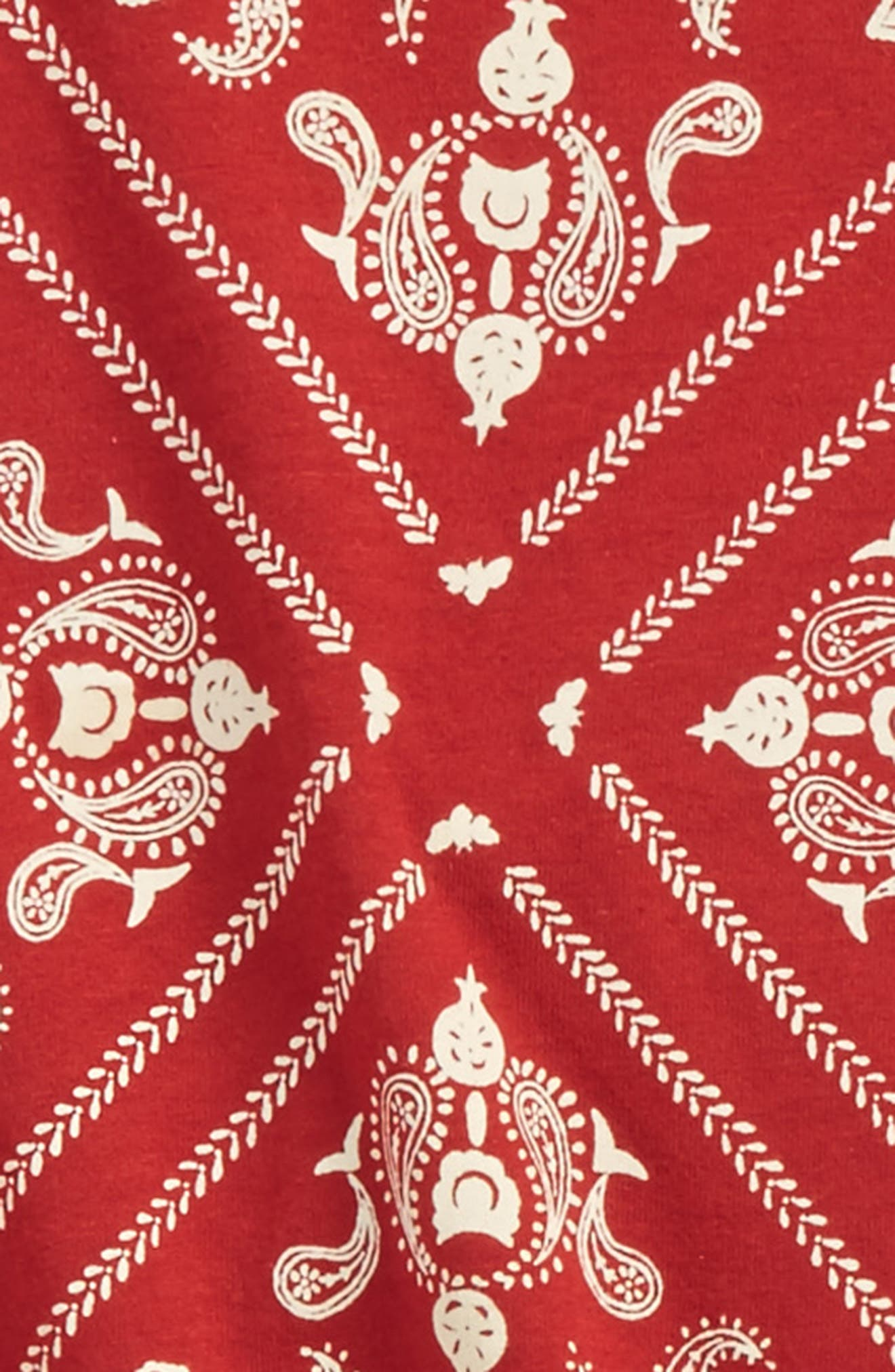 Print Tee & Leggings Set,                             Alternate thumbnail 2, color,                             Red Barn