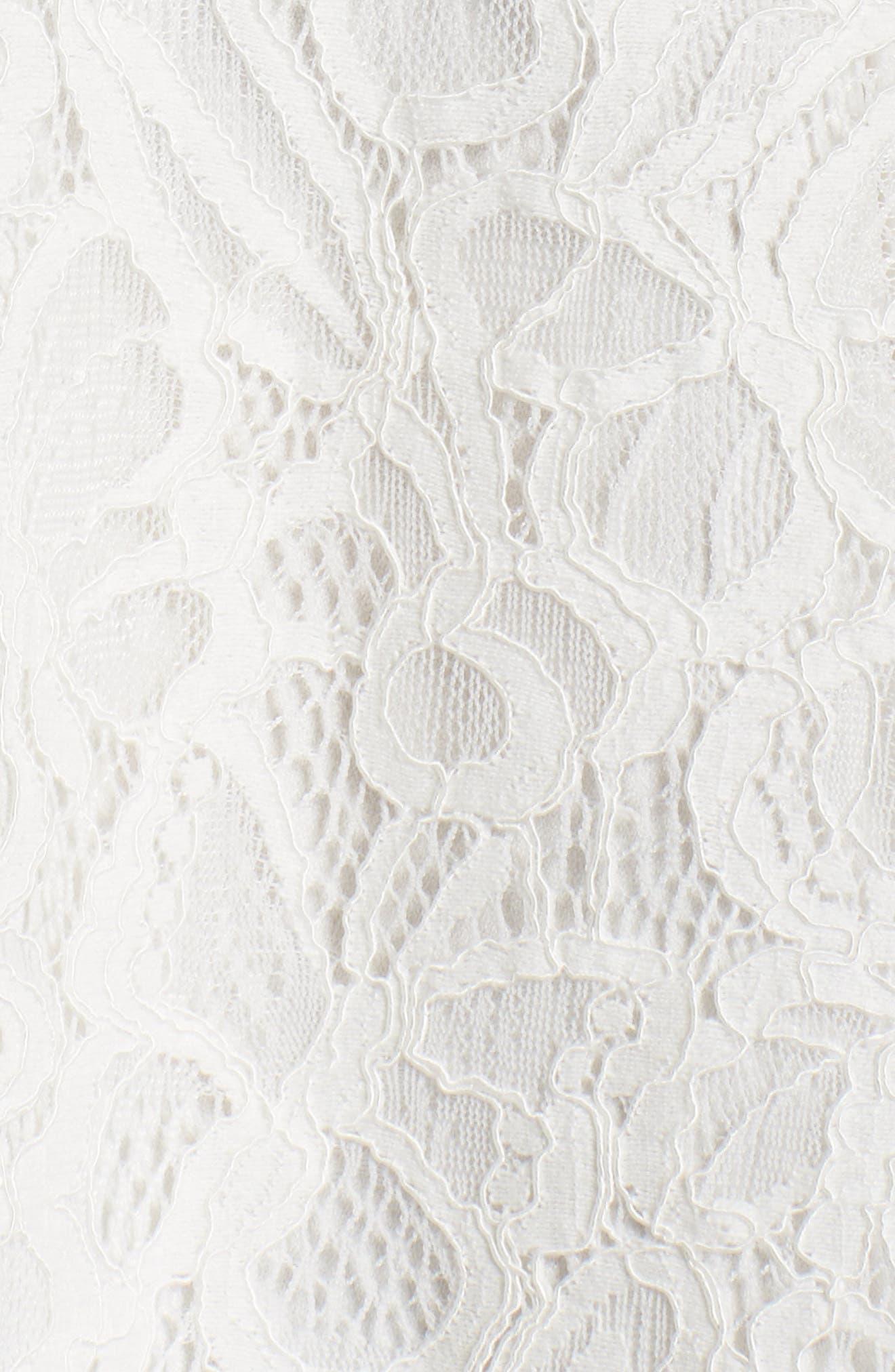 Hilda Fit & Flare Dress,                             Alternate thumbnail 5, color,                             White/ Black