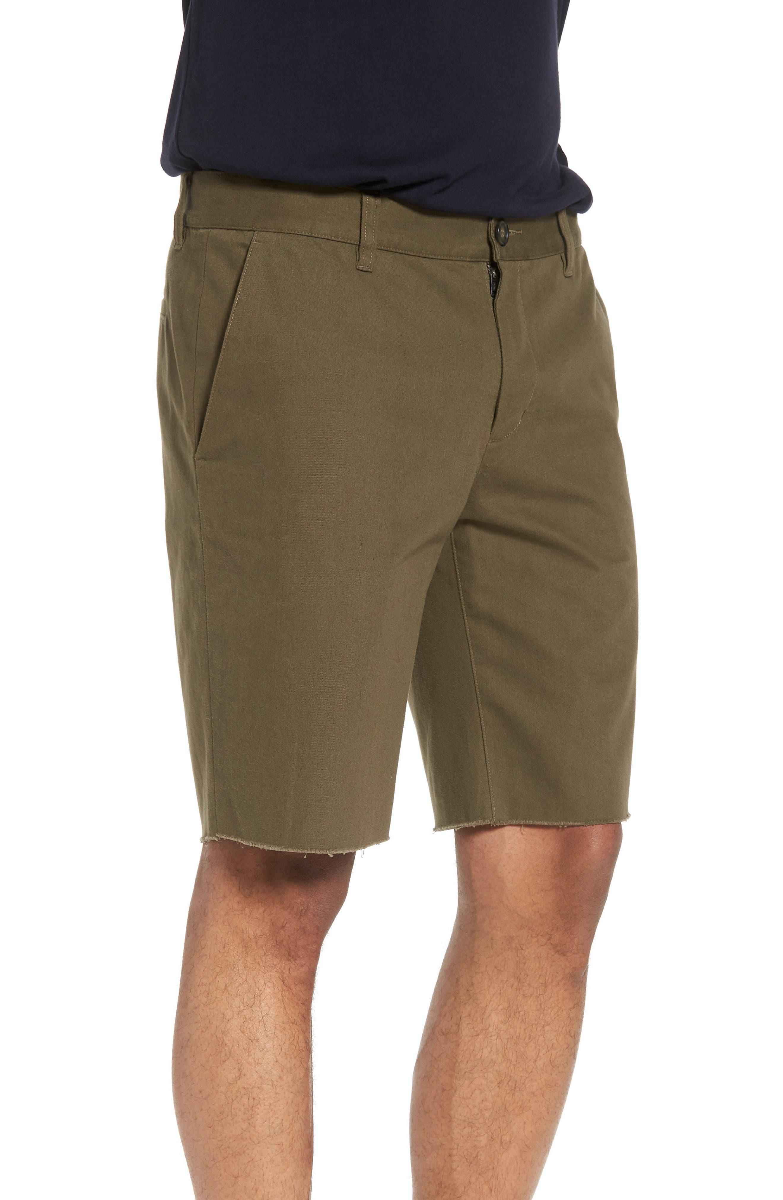 Slim Fit Chino Shorts,                             Alternate thumbnail 3, color,                             Camp Green