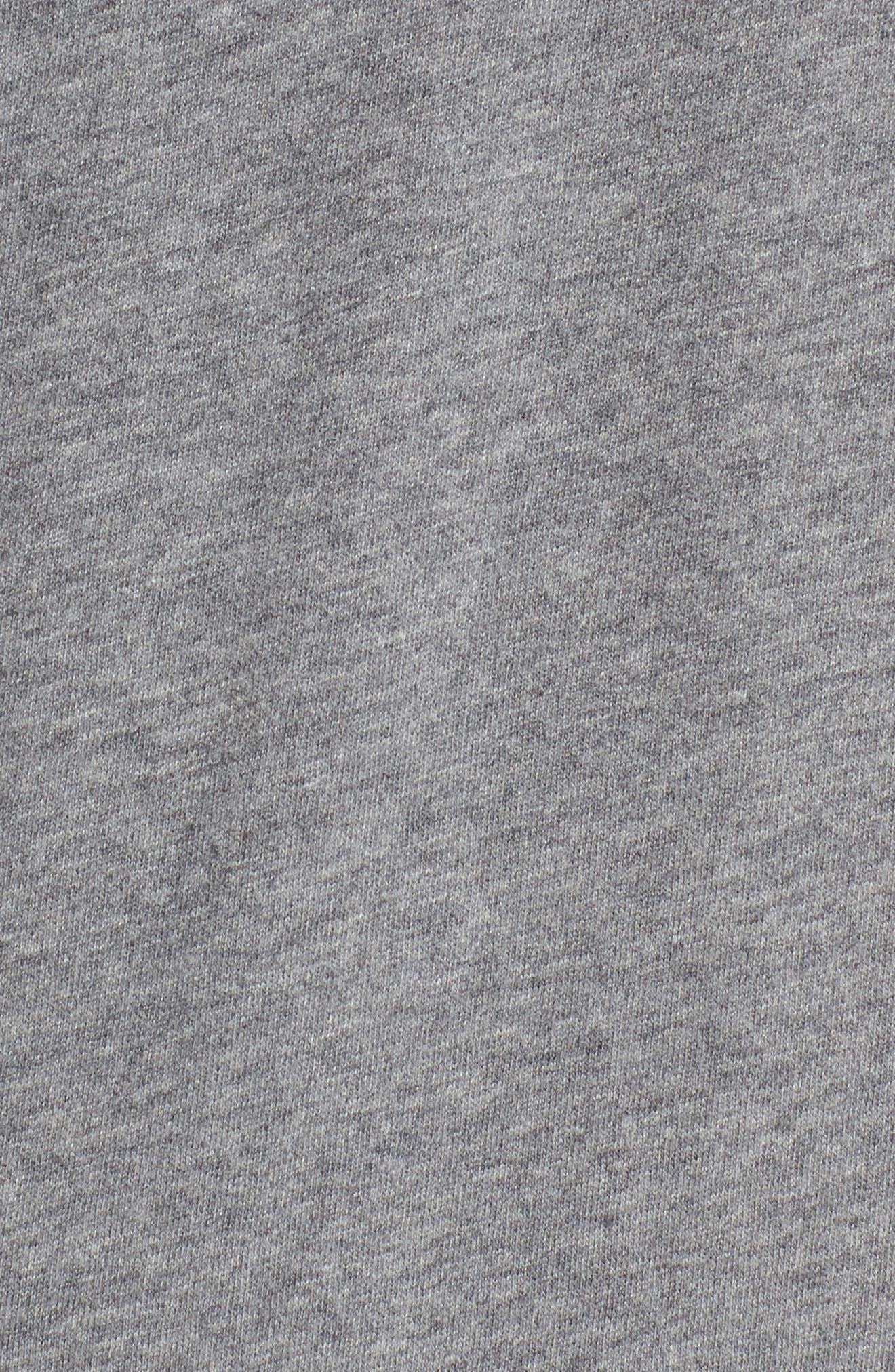 Solidarity Slim Fit Crewneck T-Shirt,                             Alternate thumbnail 5, color,                             Mid Grey Melange/ Black