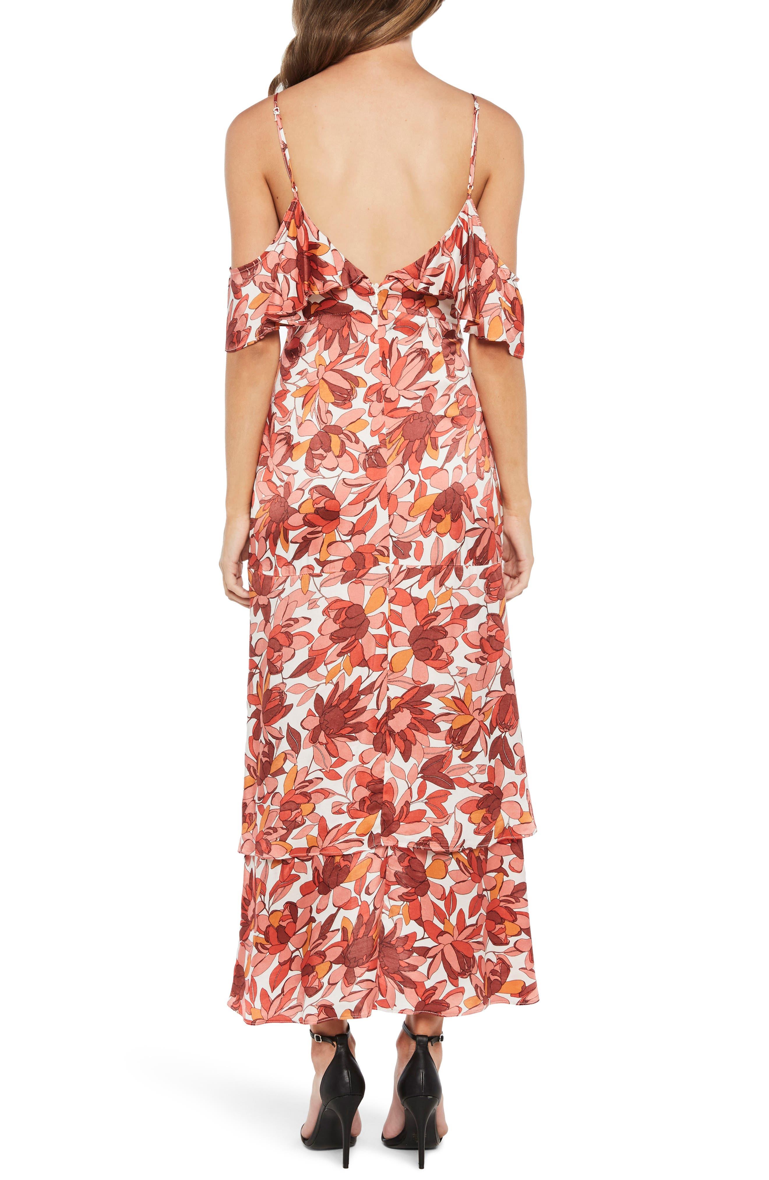 Frankie Frill Floral Dress,                             Alternate thumbnail 3, color,                             Azr Floral