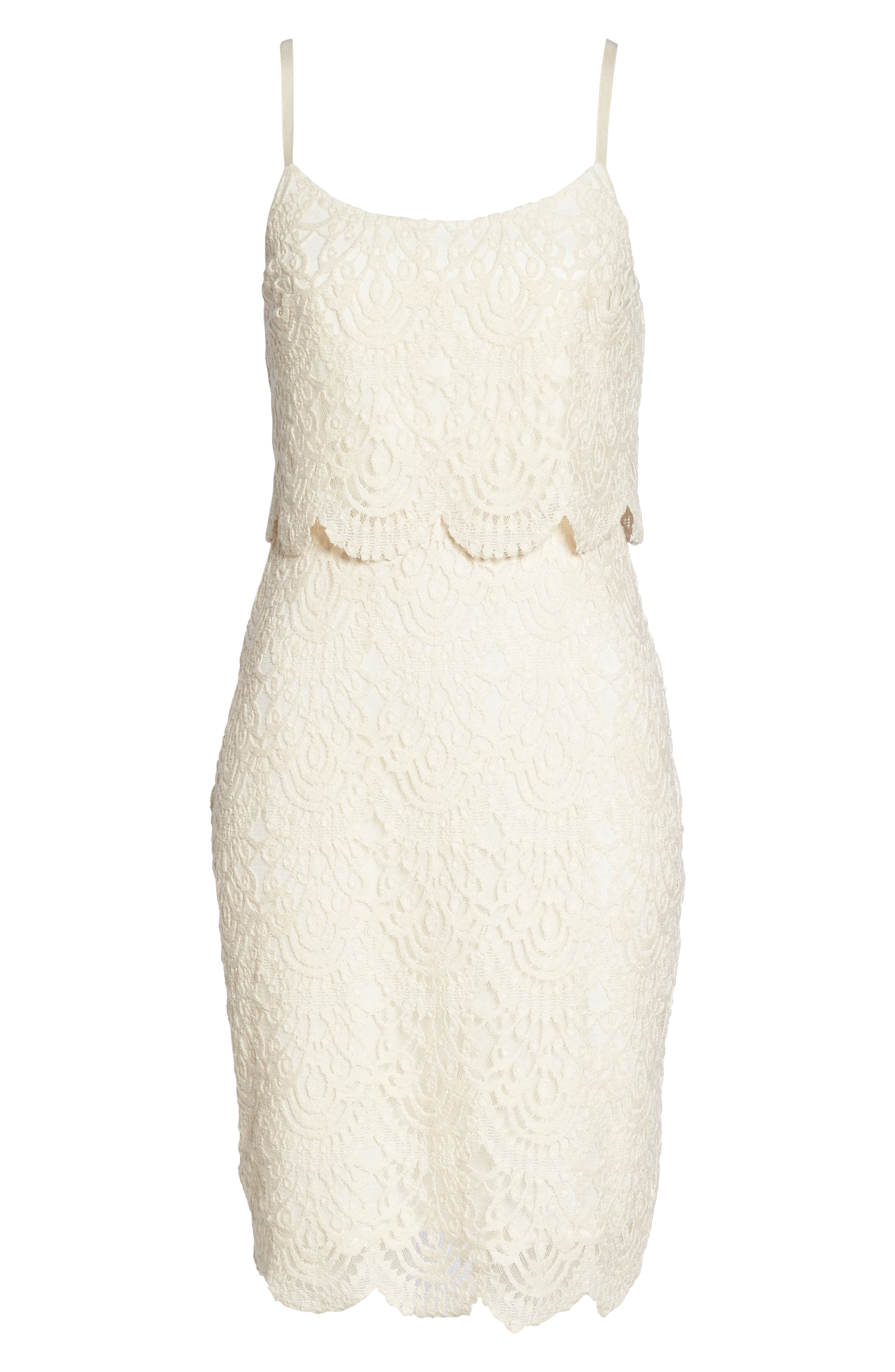 Barnsdall Afternoon Tiered Lace Dress,                             Alternate thumbnail 6, color,                             Vintage Lace