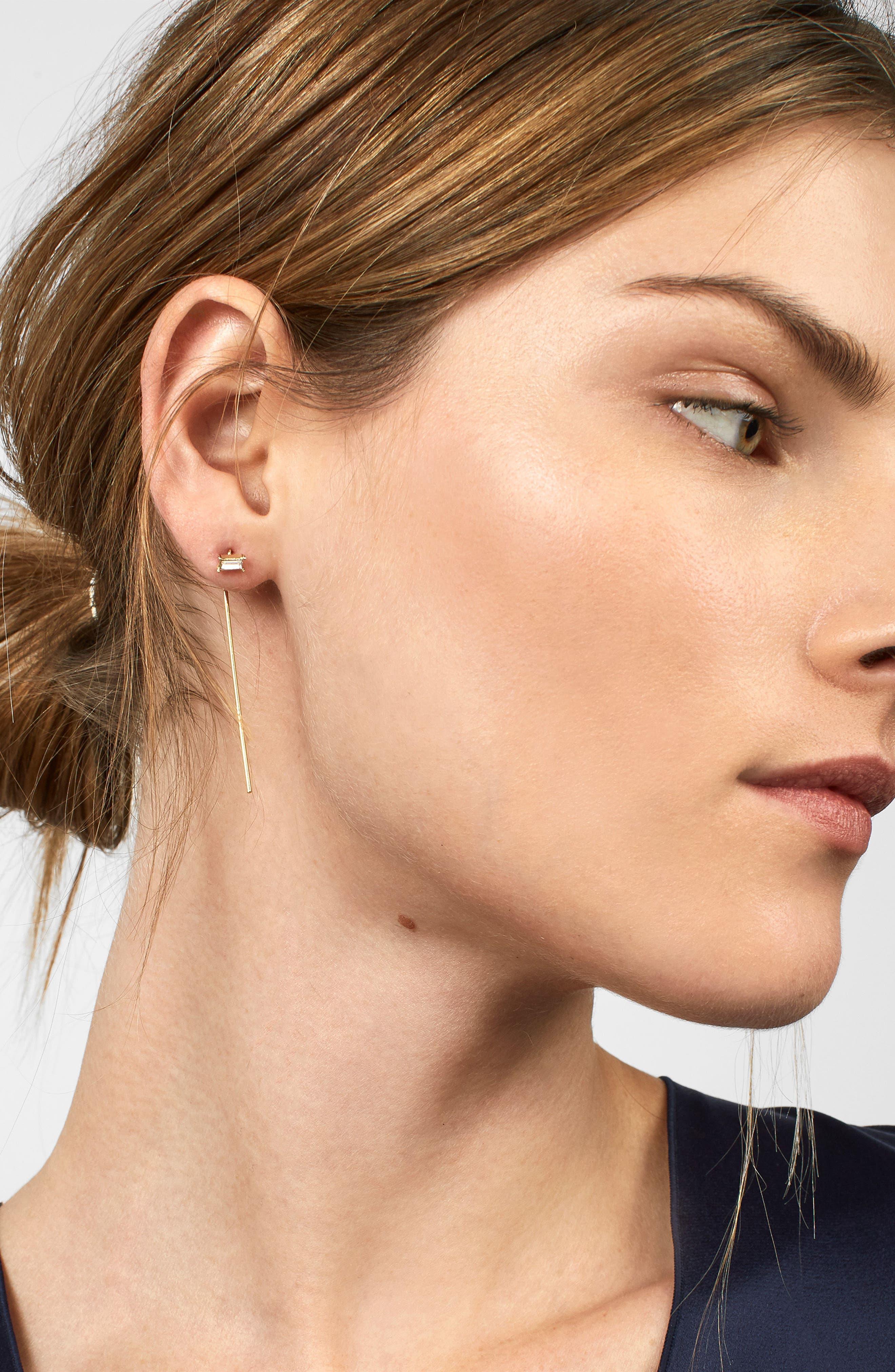 Aliyah Drop Earrings,                             Alternate thumbnail 2, color,                             Gold