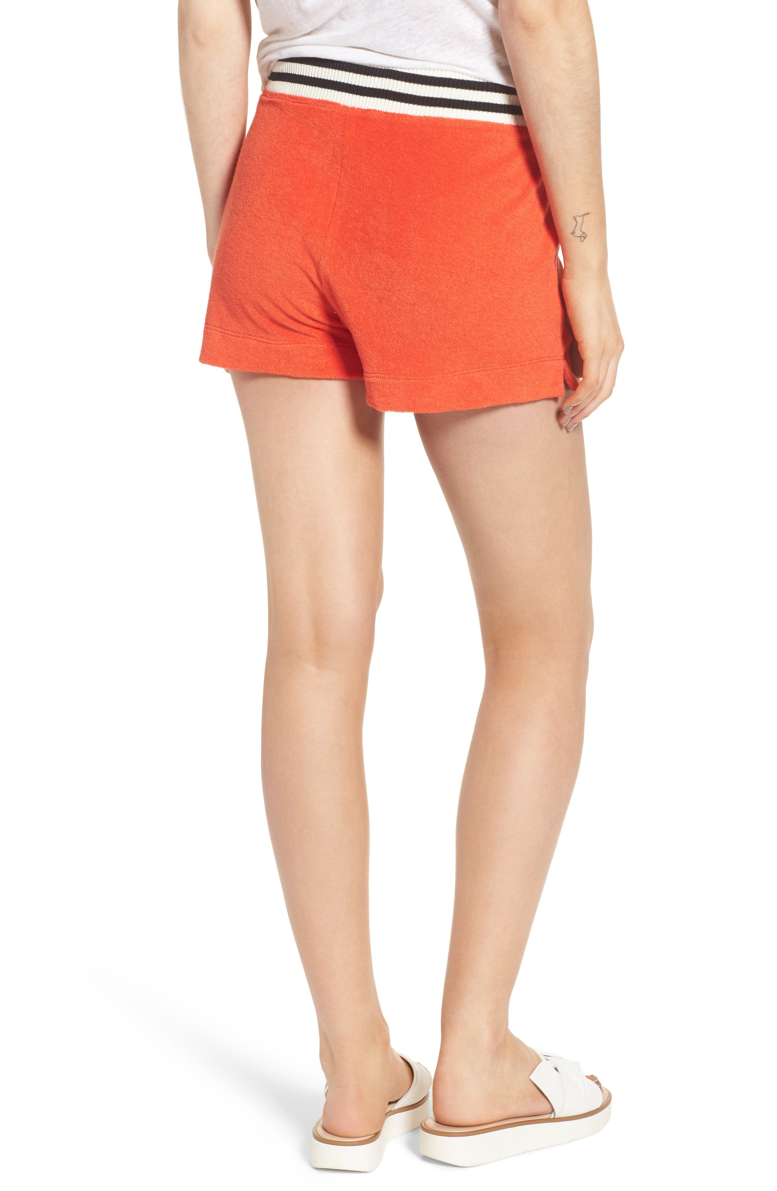 x Margherita Sportivo French Terry Shorts,                             Alternate thumbnail 2, color,                             Red