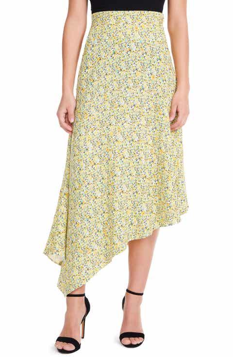 AFRM Pavia Asymmetrical Midi Skirt