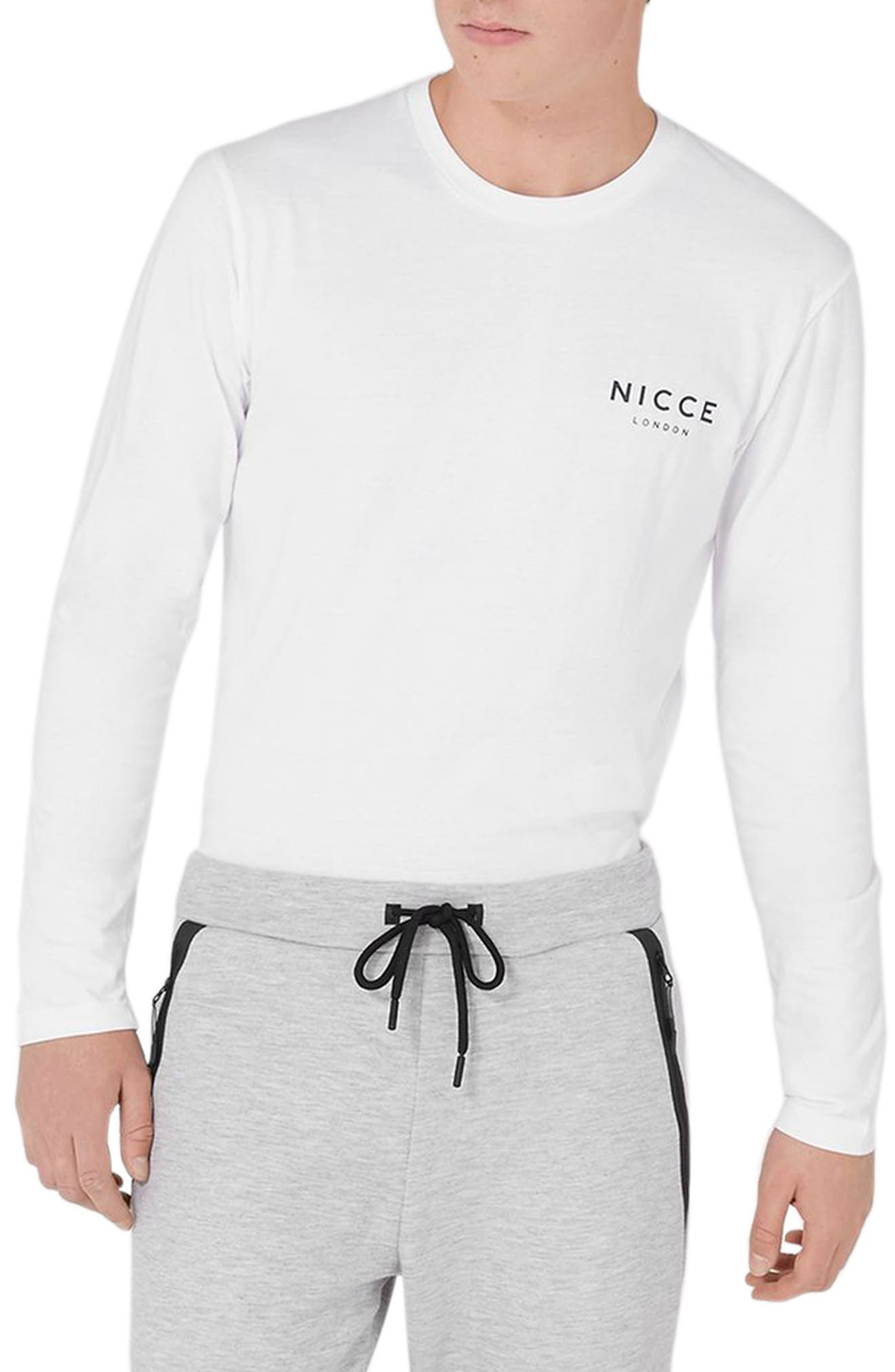 NICCE Graphic Long Sleeve T-Shirt,                         Main,                         color, White