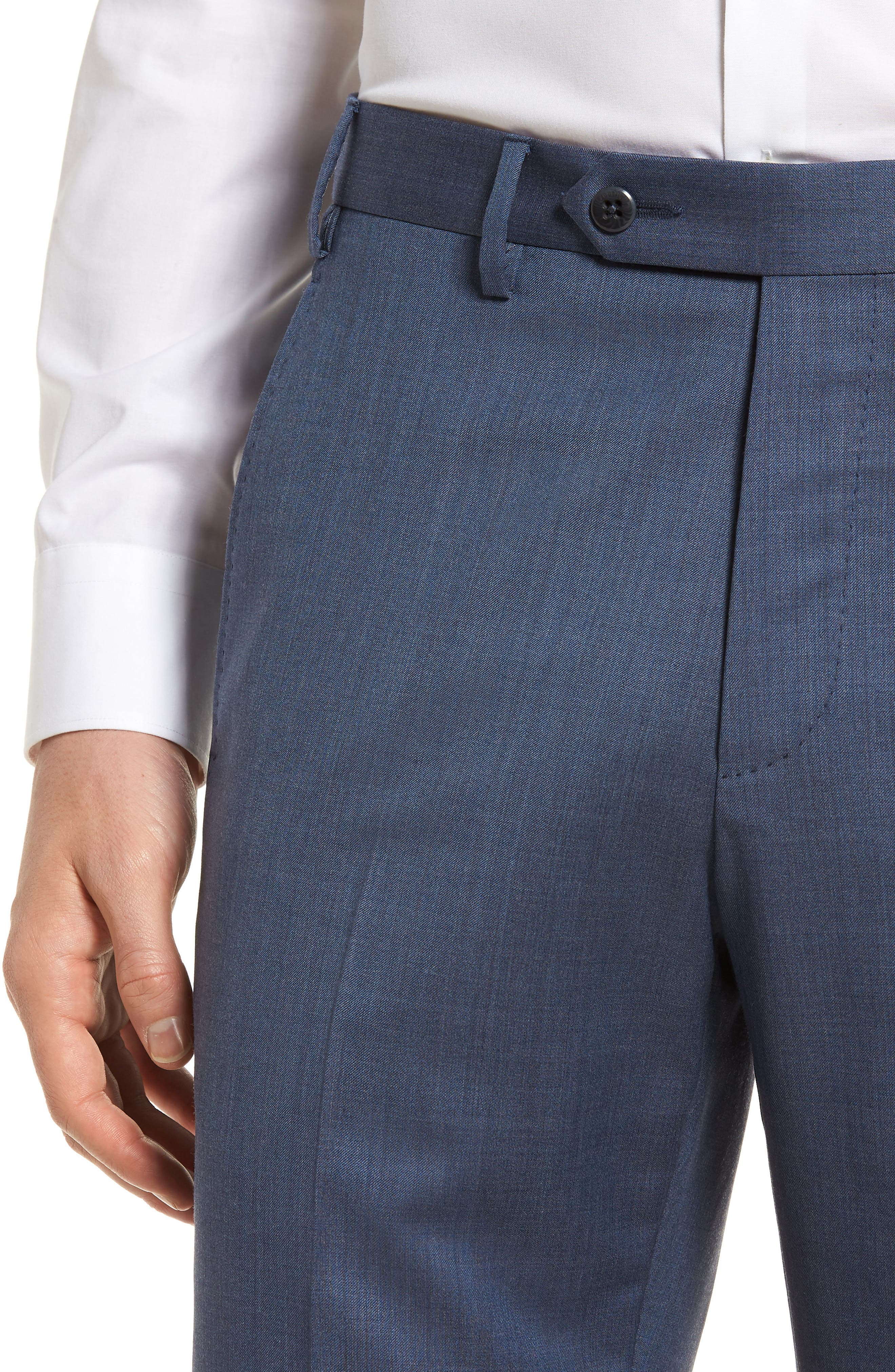 Alternate Image 5  - Zanella Devon Flat Front Solid Wool Serge Trousers
