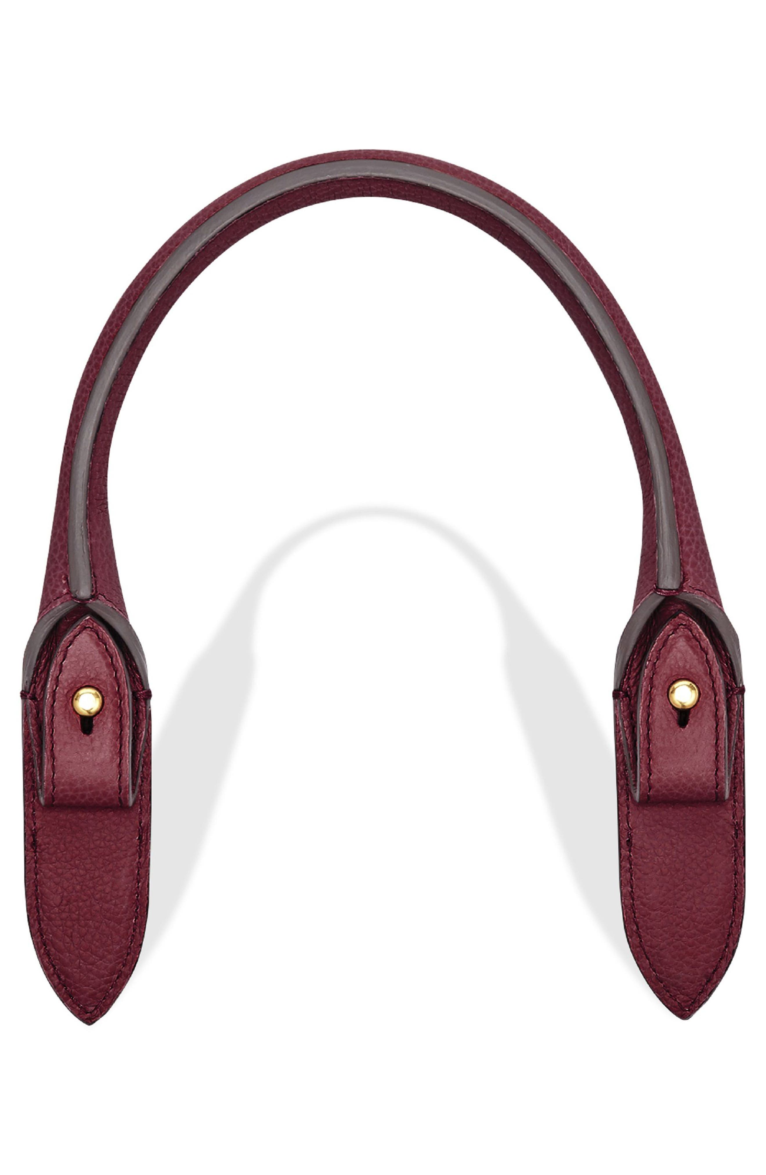 Build a Bag Rolled Leather Handle,                             Alternate thumbnail 2, color,                             Raspberry