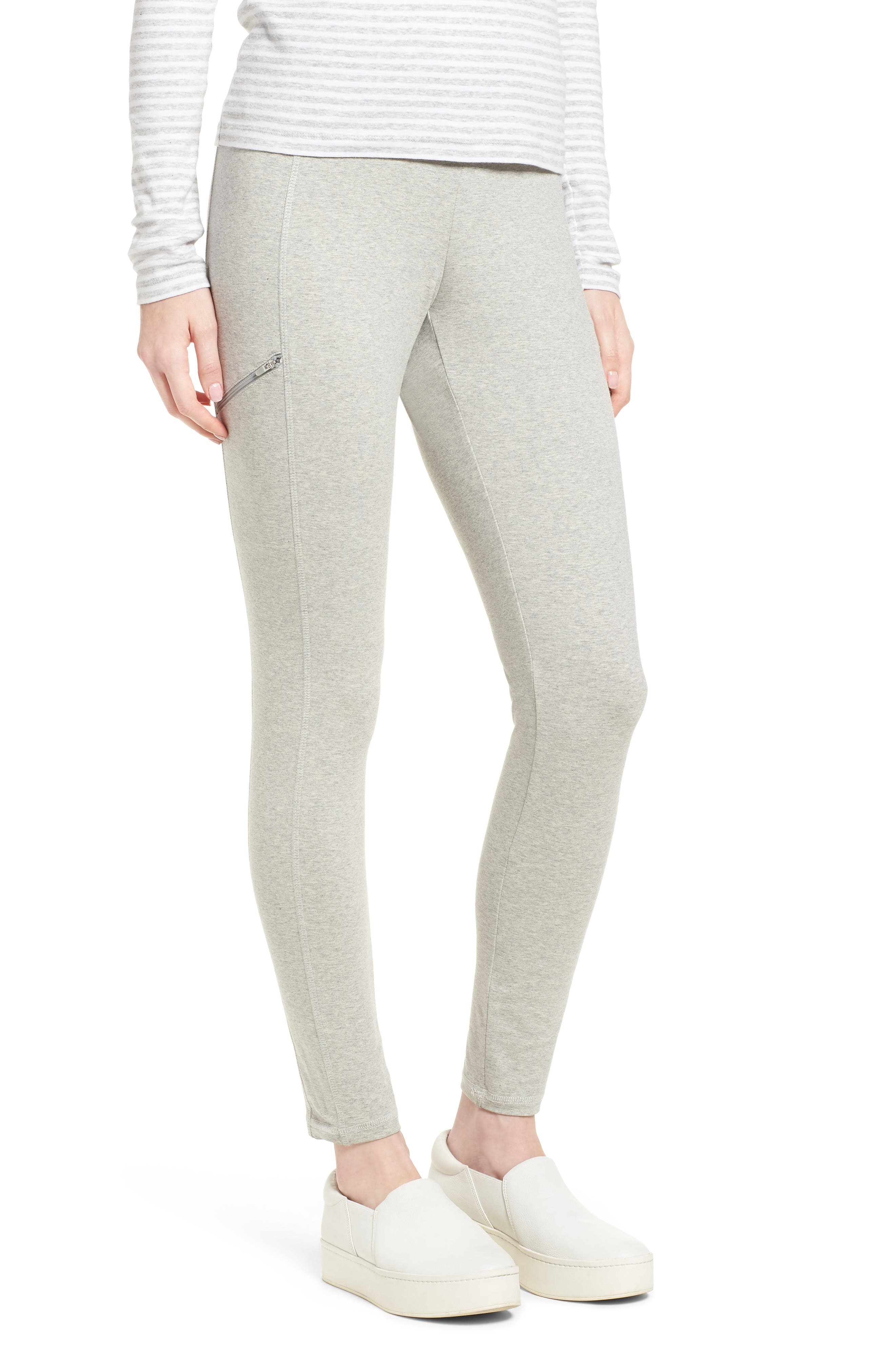 Stretch Organic Cotton Skinny Pants,                         Main,                         color, Dark Pearl