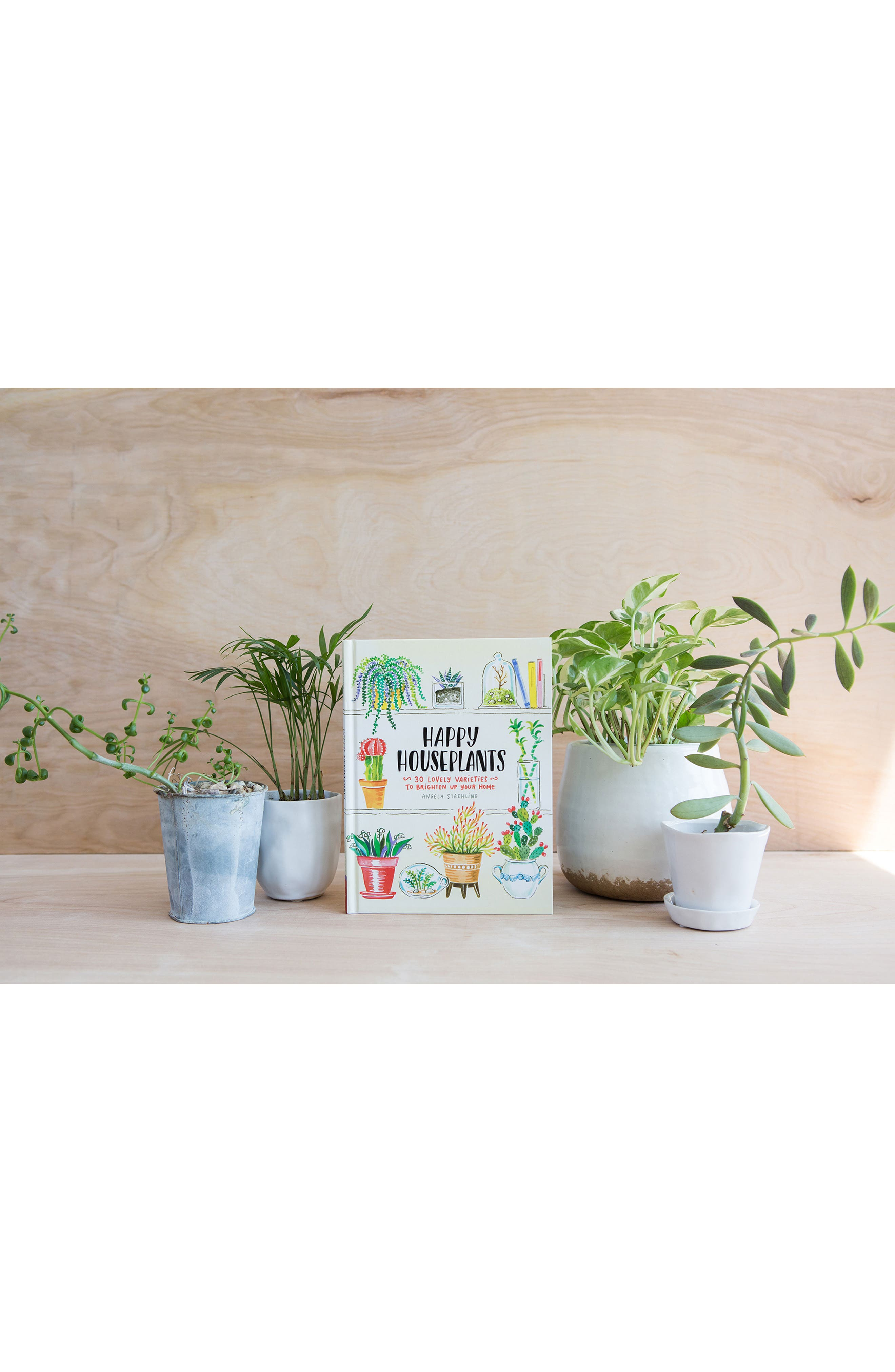 'Happy Houseplants: 30 Lovely Varieties to Brighten Up Your Home' Book,                             Alternate thumbnail 3, color,                             Green