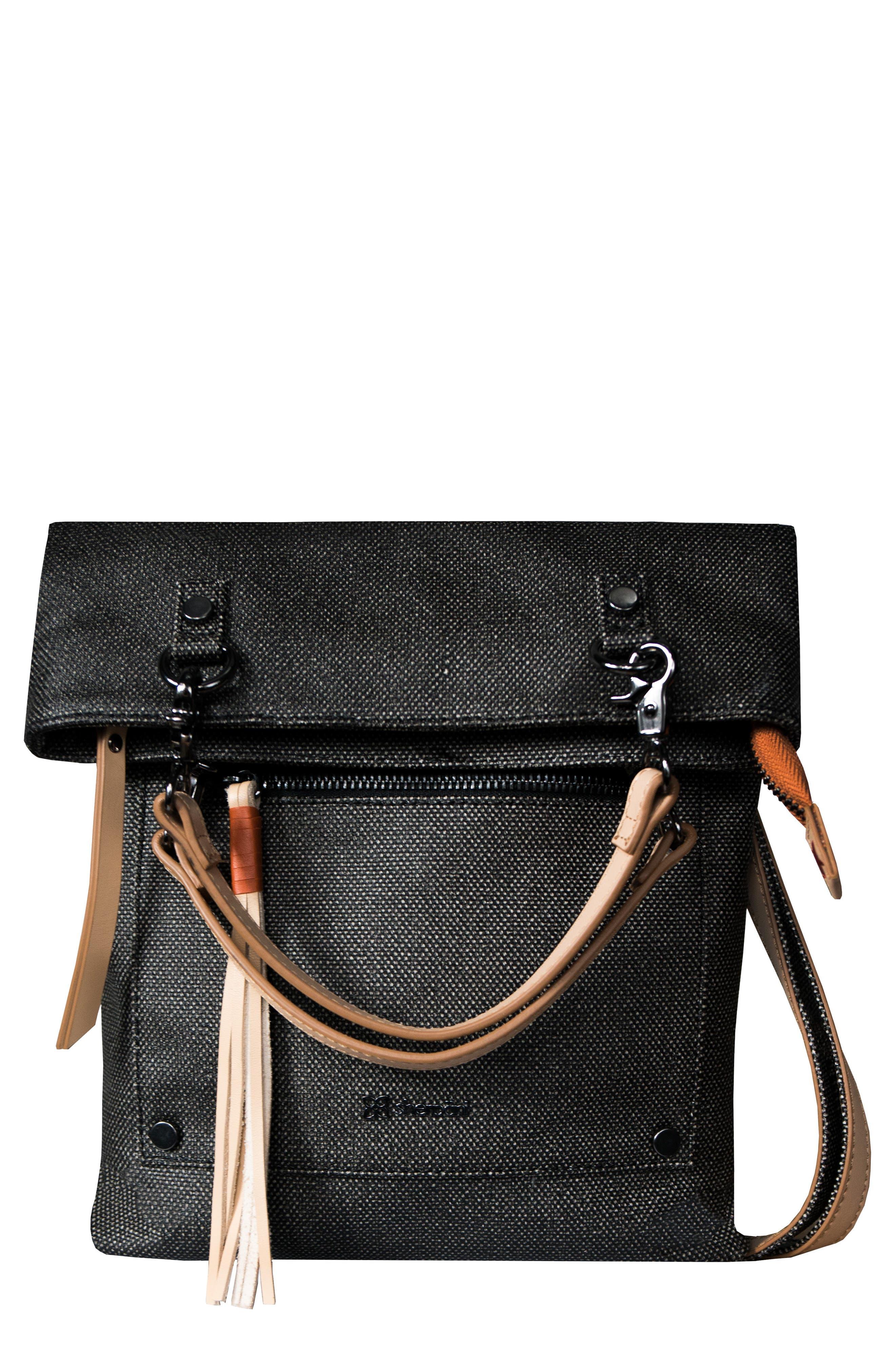 Rebel Coated Canvas Crossbody Bag,                             Main thumbnail 1, color,                             Blackstone