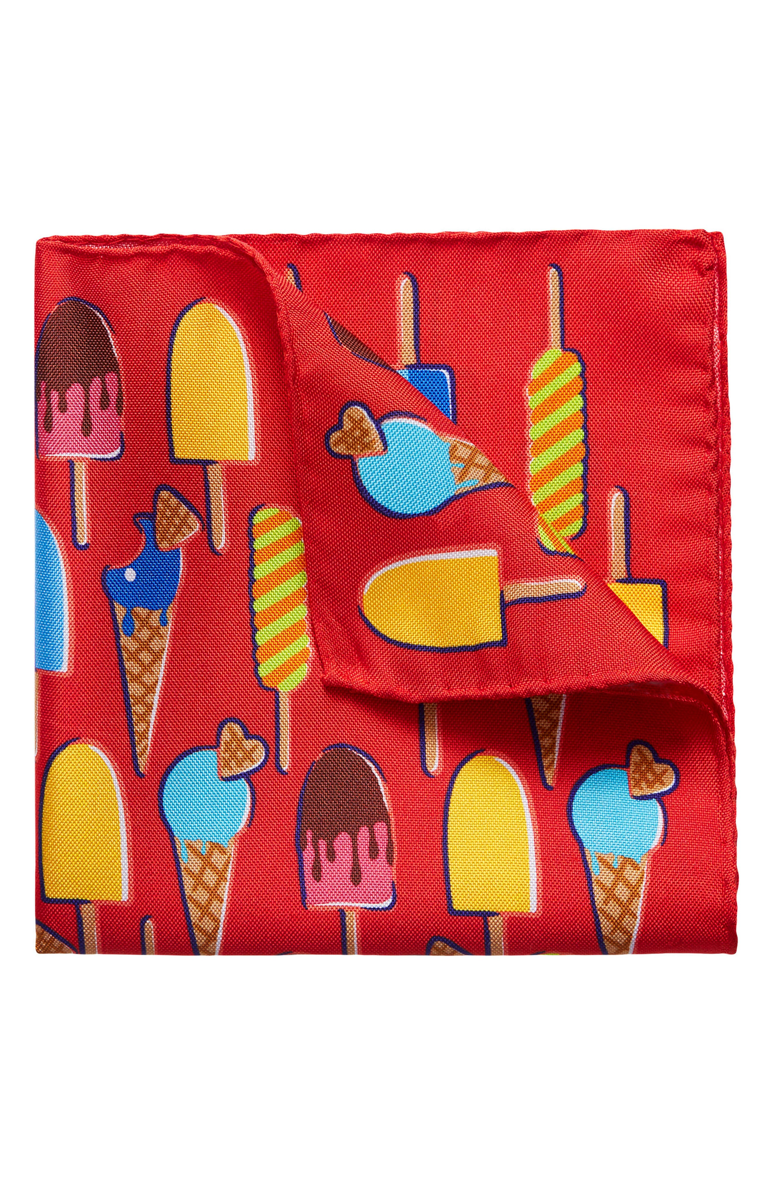 Eton Ice Cream Silk Pocket Square