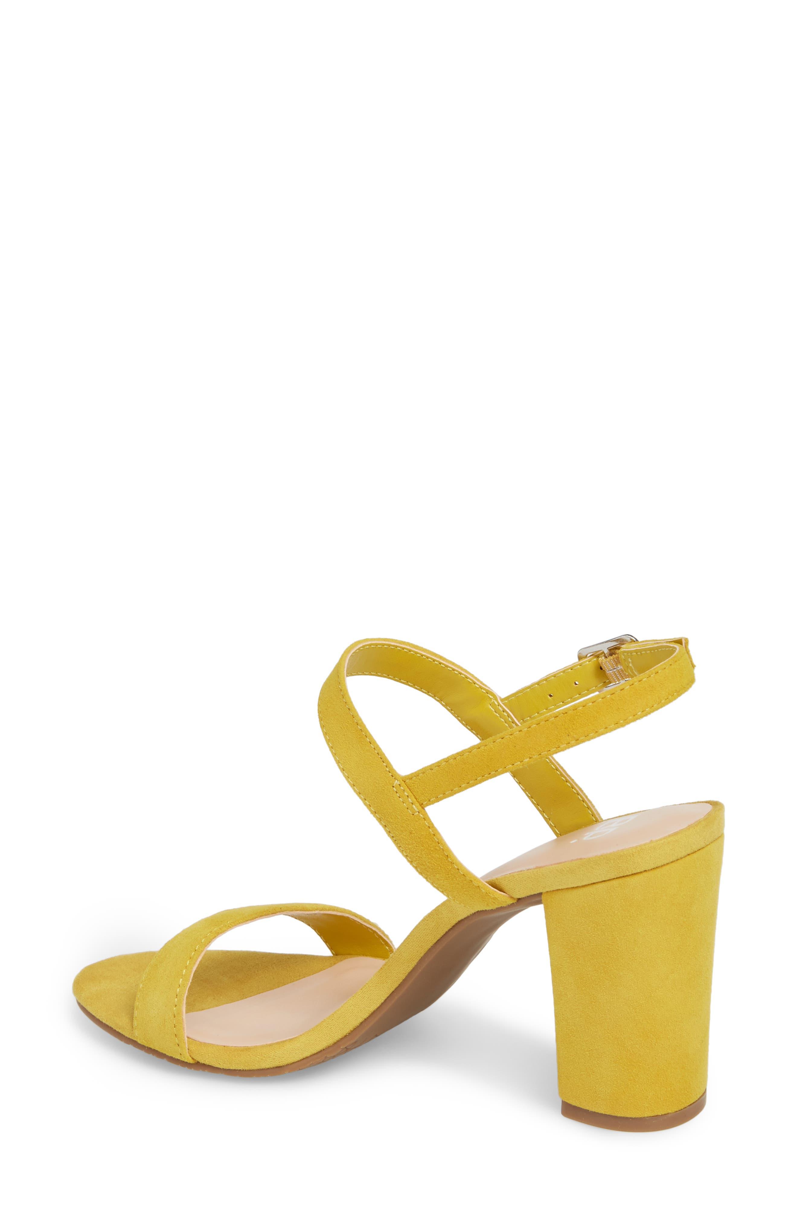 Lula Block Heel Slingback Sandal,                             Alternate thumbnail 2, color,                             Yellow Suede