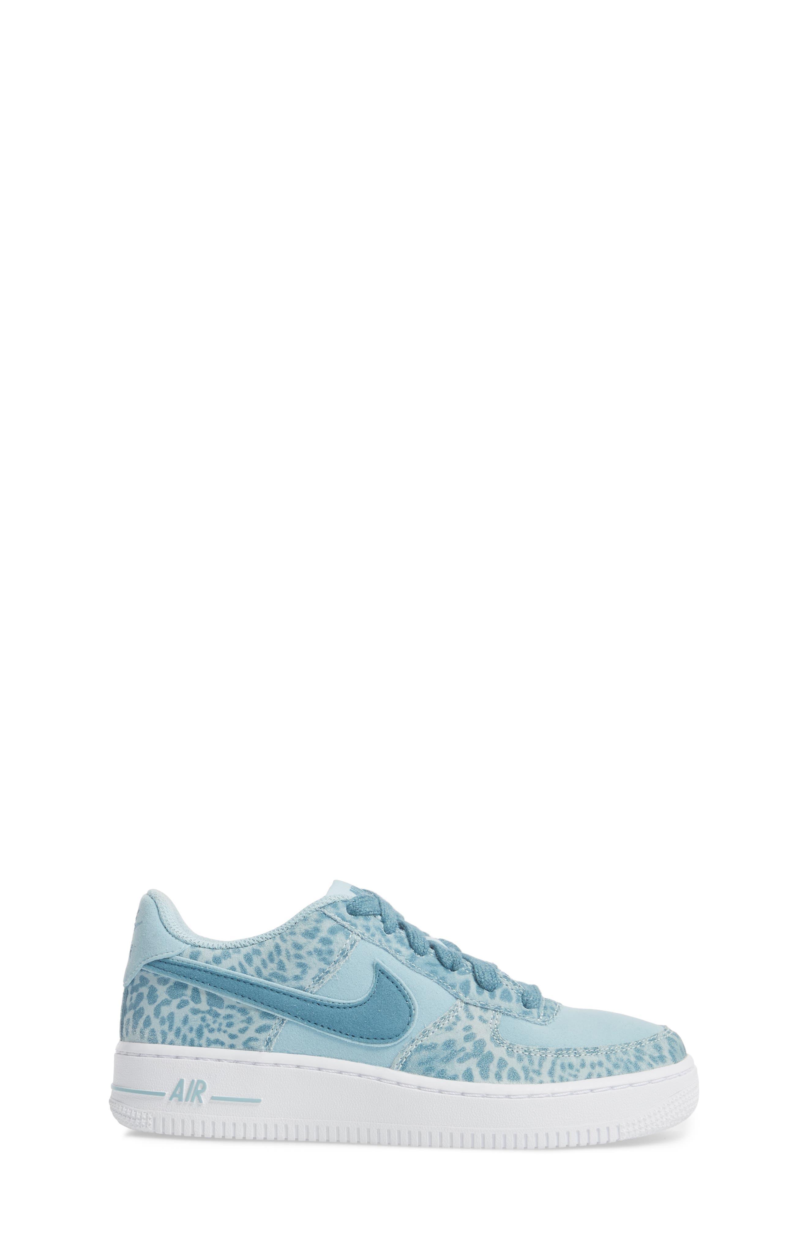 Air Force 1 LV8 Sneaker,                             Alternate thumbnail 3, color,                             Ocean Bliss/ Noise Aqua/ White