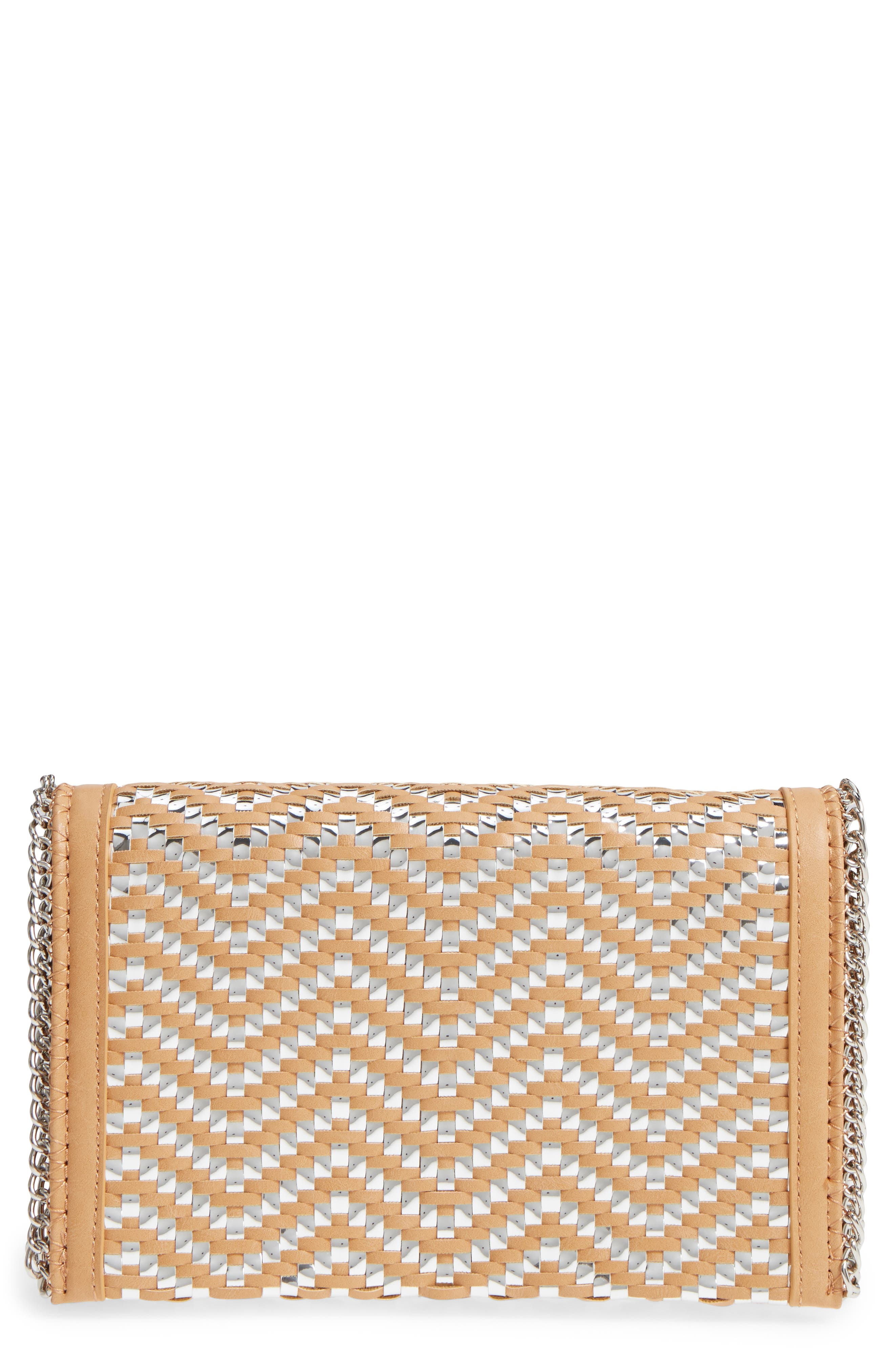 Chelsea28 Woven Faux Leather Clutch