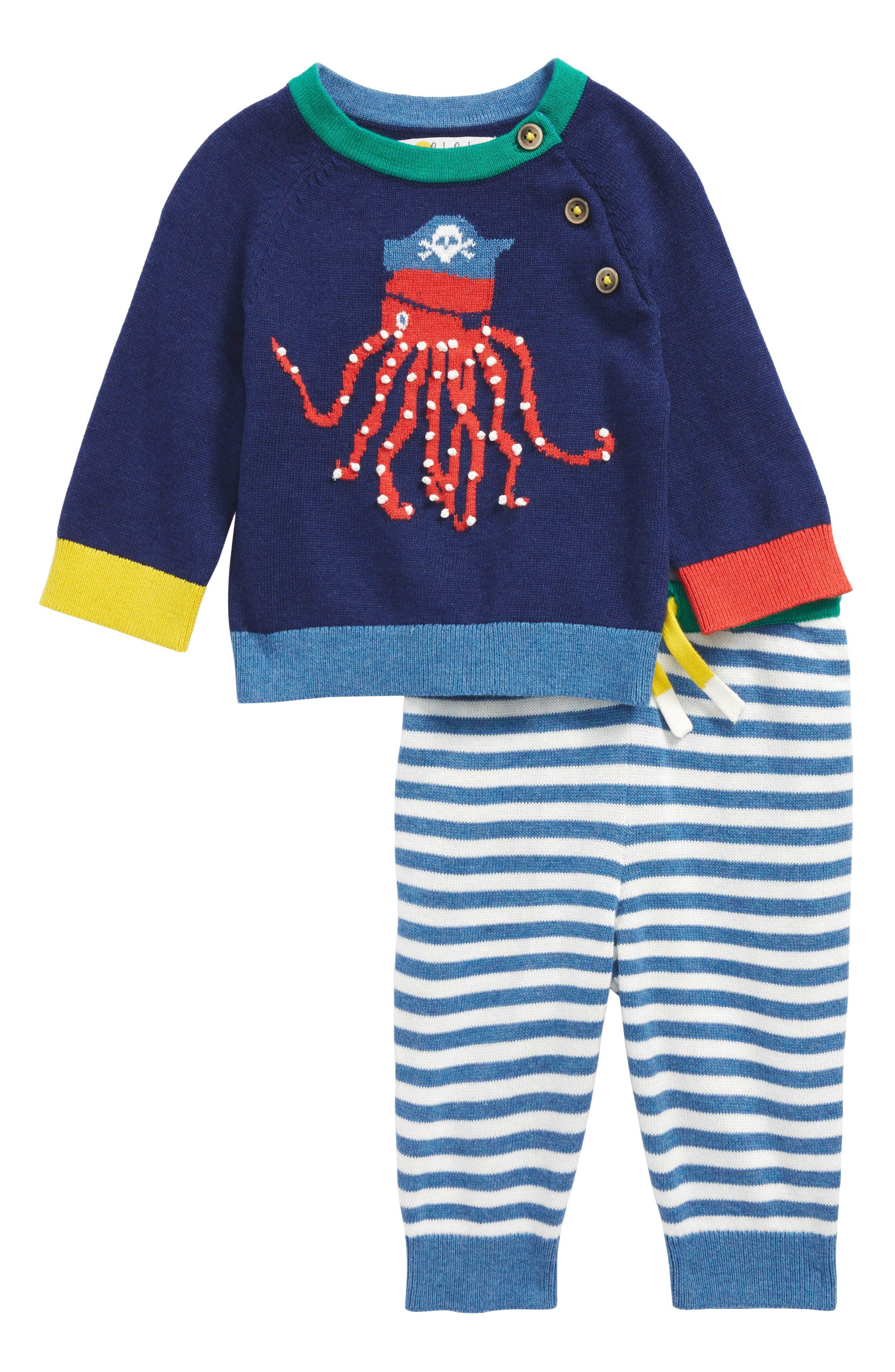 Octopus Sweater & Pants Set,                         Main,                         color, Beacon Blue Octopus