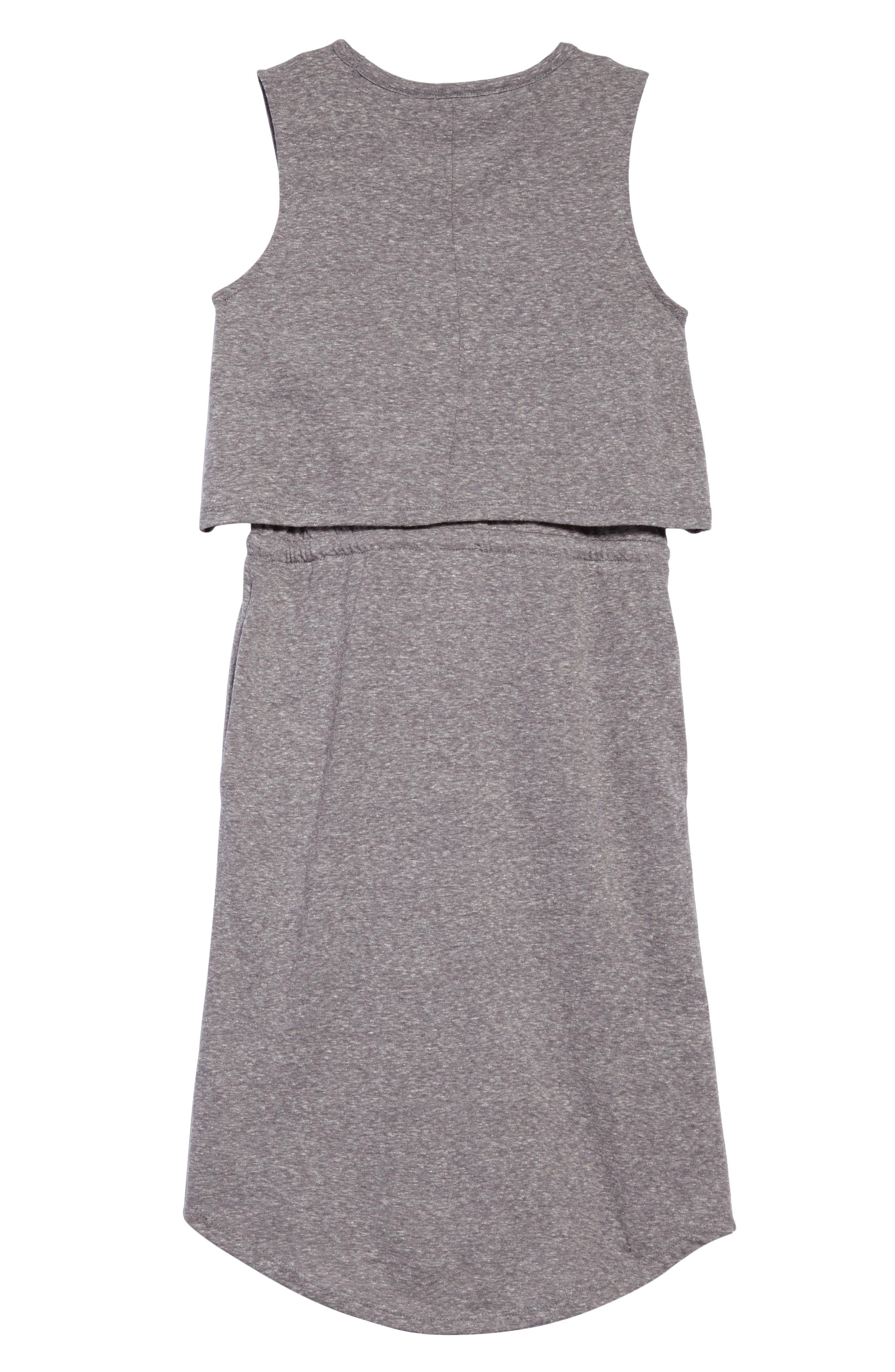 Knit Popover Dress,                             Alternate thumbnail 2, color,                             Grey Medium Heather