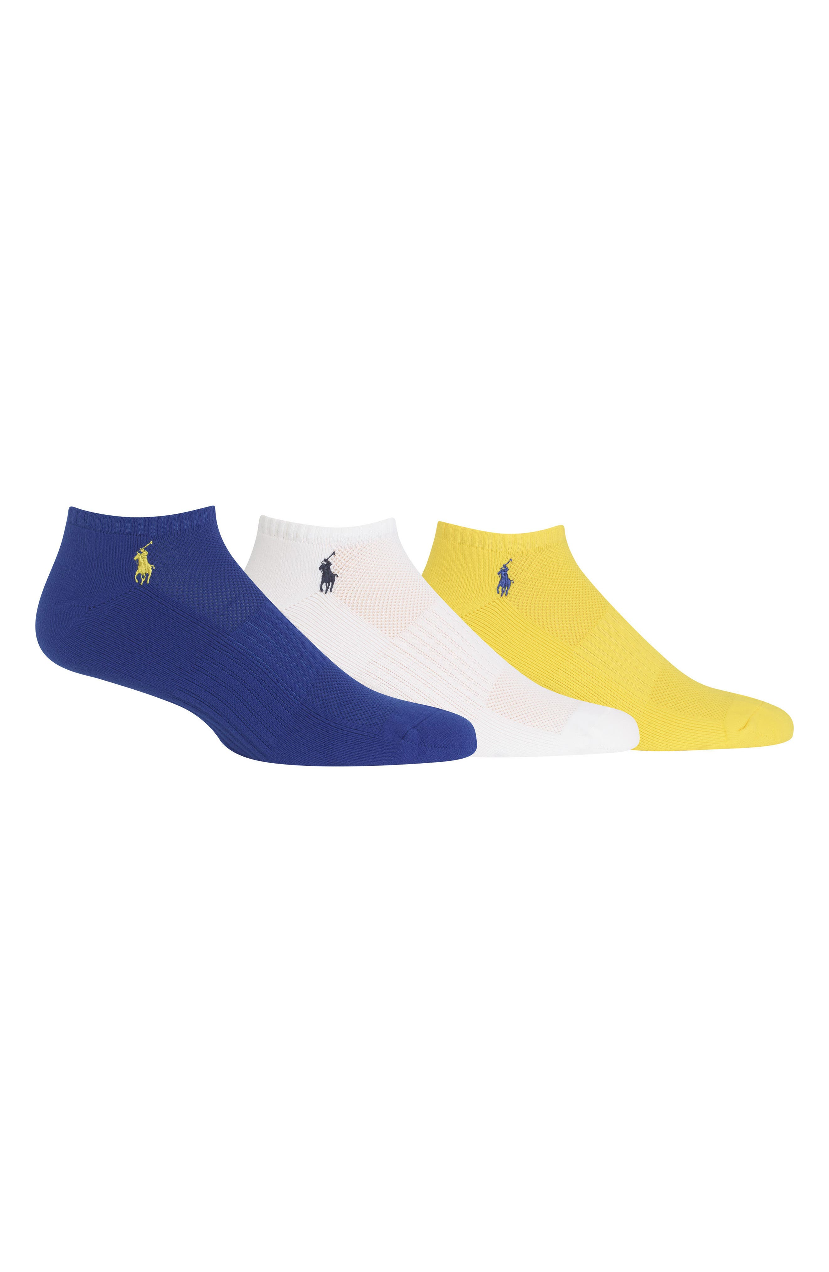 3-Pack Technical Sport Socks,                             Main thumbnail 1, color,                             Royal/ White/ Yellow