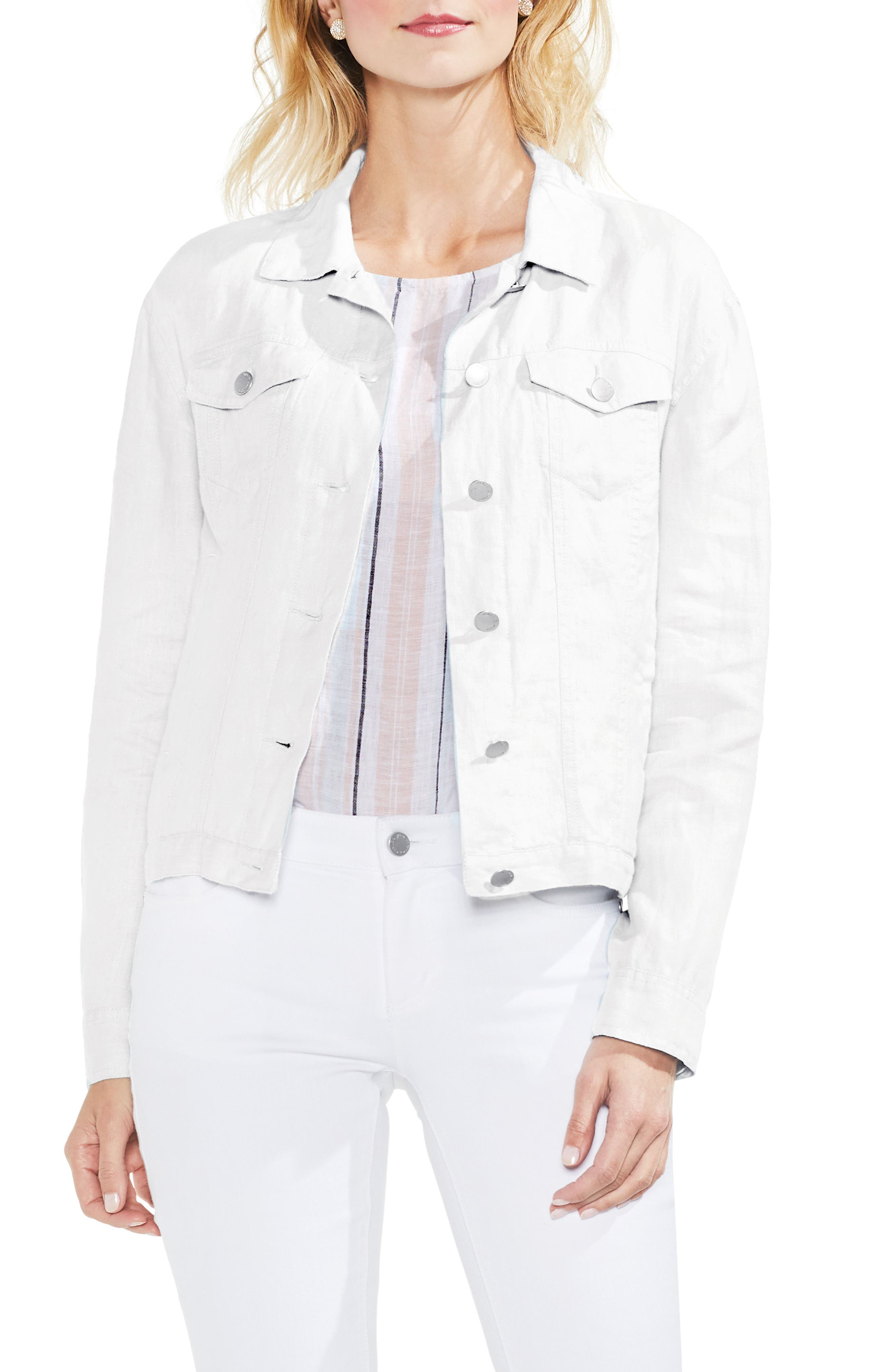 Classic Linen Jacket,                         Main,                         color, Ultra White