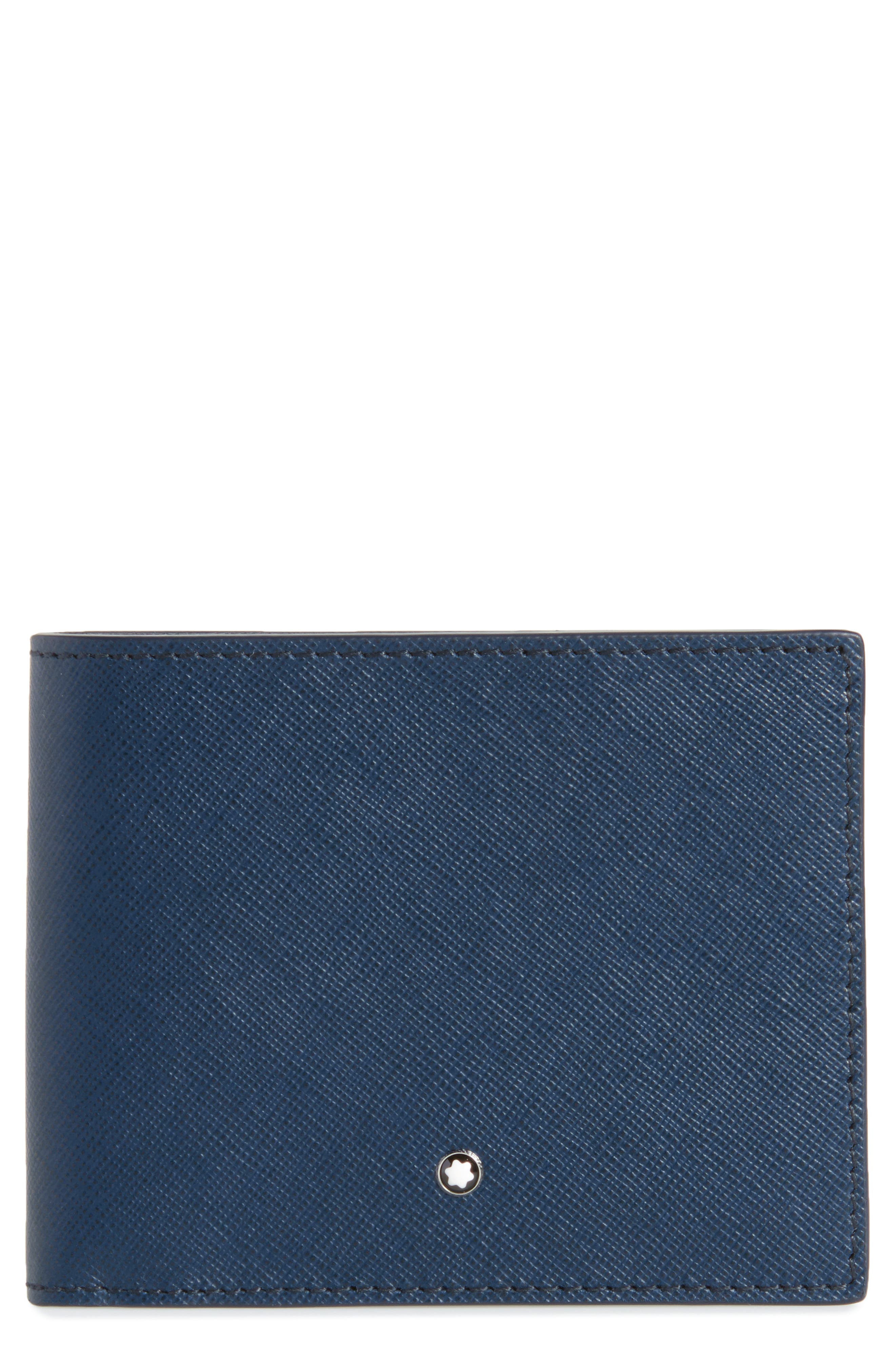 Sartorial Leather Bifold Wallet,                         Main,                         color, Indigo