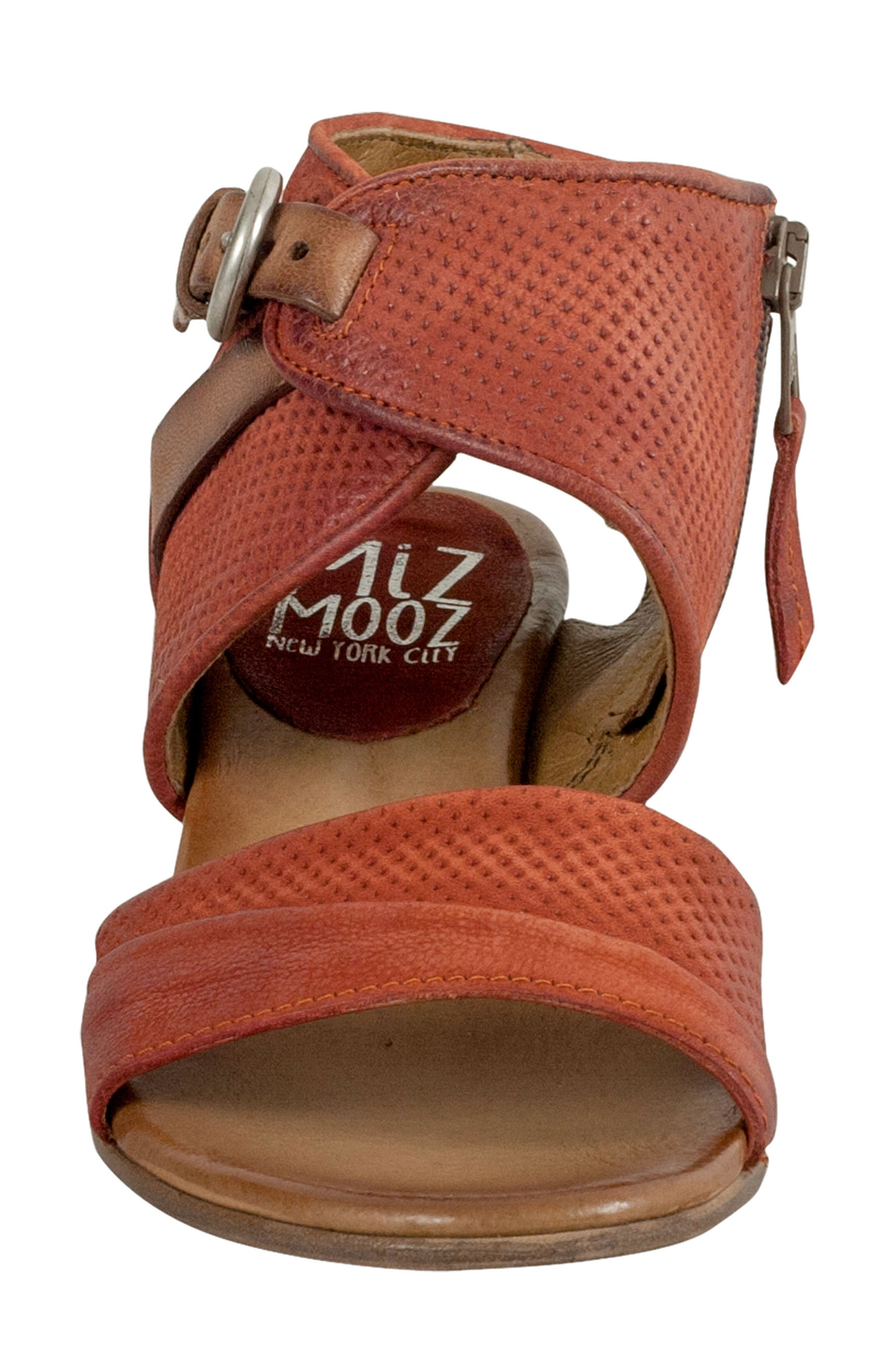 Chatham Textured Sandal,                             Alternate thumbnail 4, color,                             Rust Leather