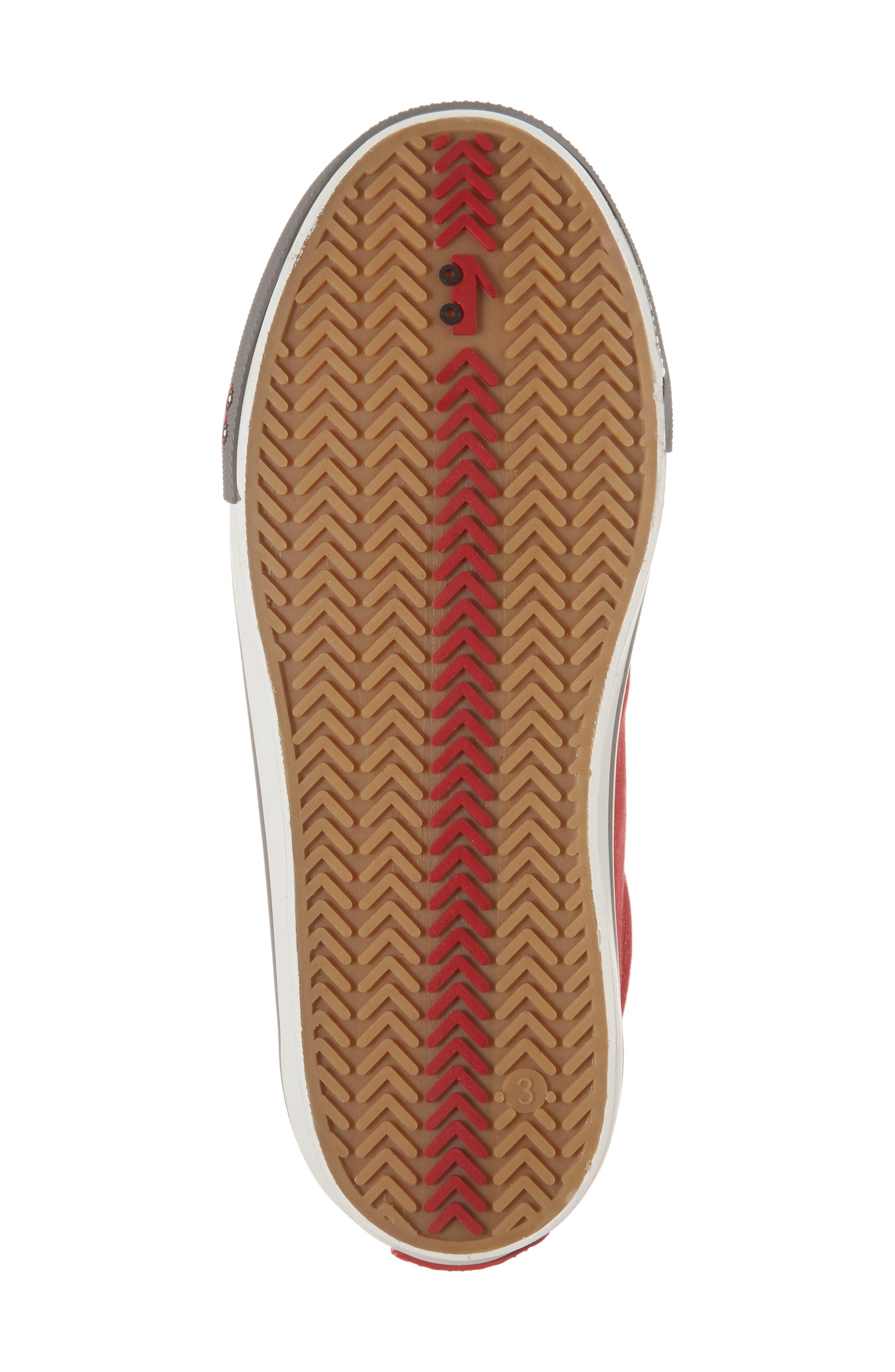 Stevie II Sneaker,                             Alternate thumbnail 6, color,                             Red/ Gray