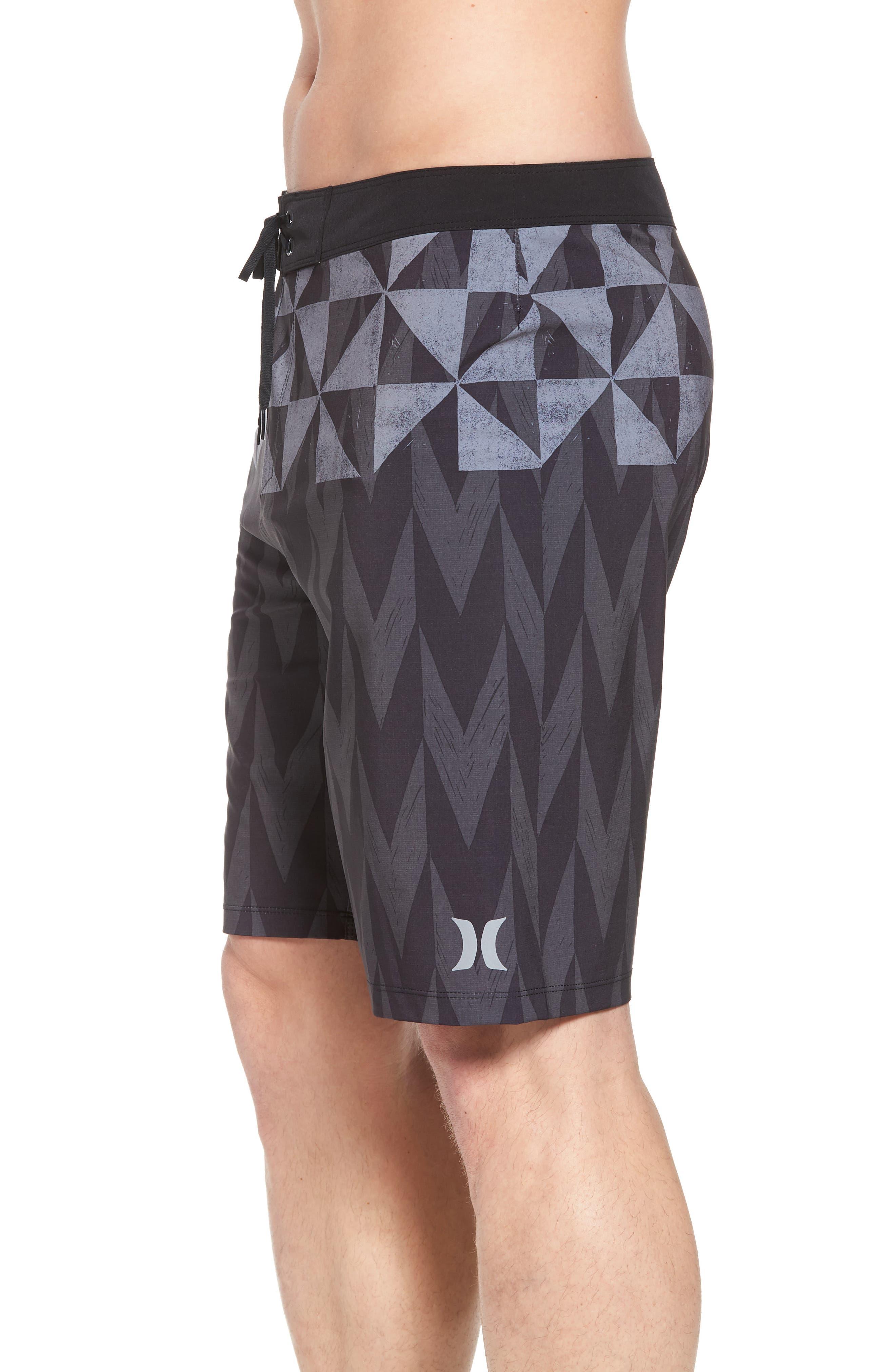 Phantom Bula Board Shorts,                             Alternate thumbnail 3, color,                             Black
