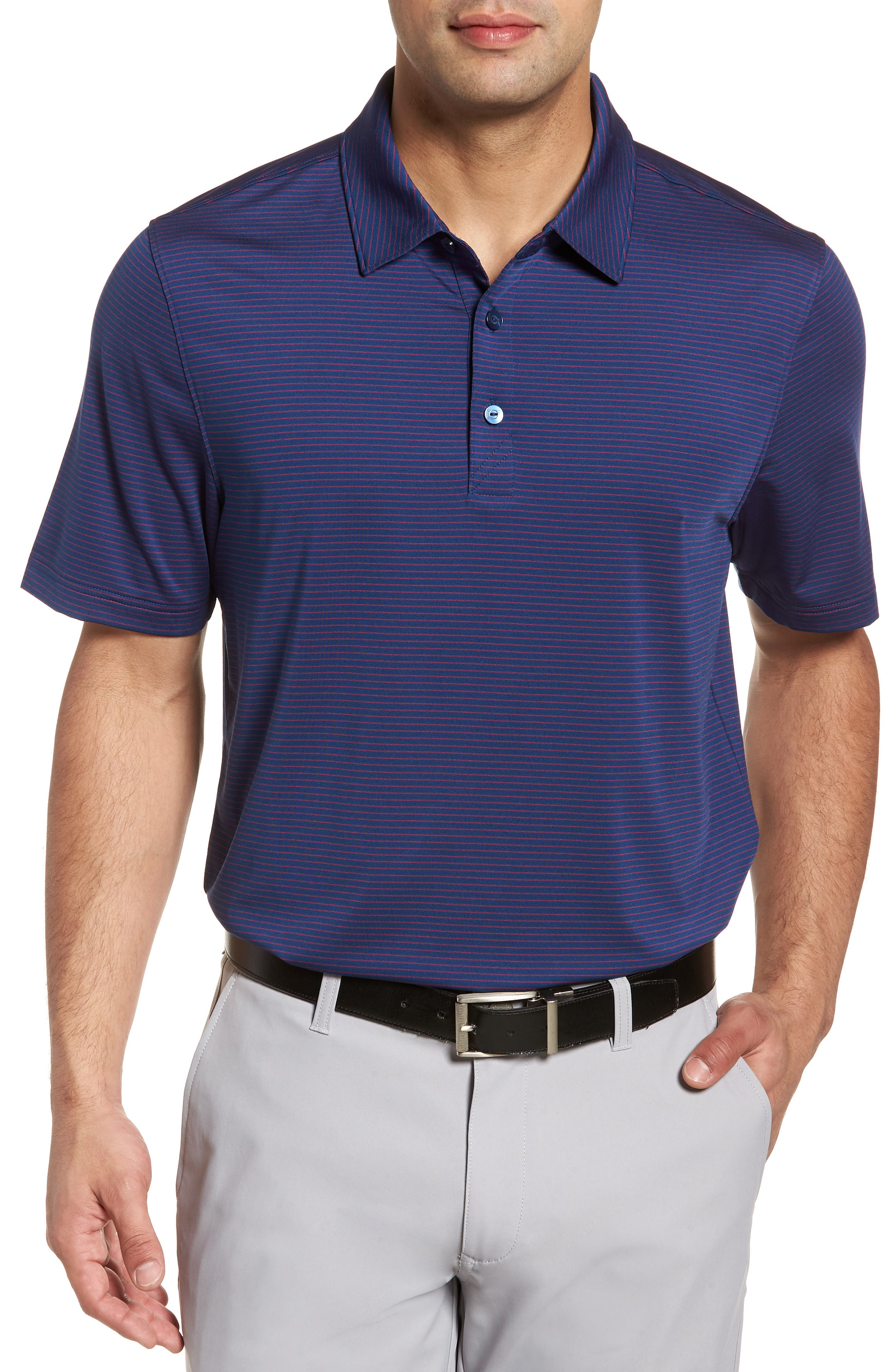 Heather DryTec Moisture Wicking Polo,                             Main thumbnail 1, color,                             Clarity