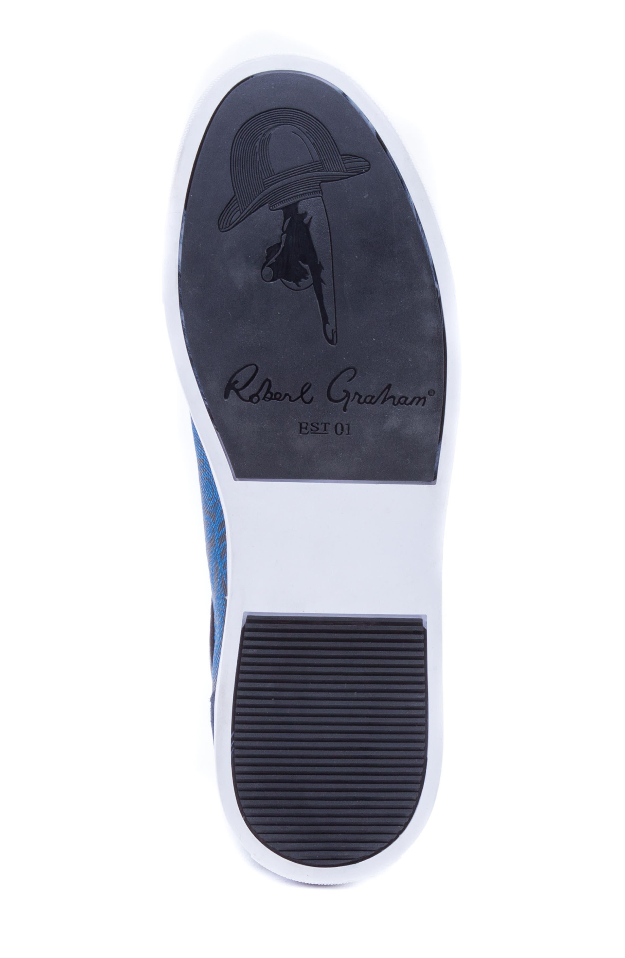 Rubio Floral Sneaker,                             Alternate thumbnail 6, color,                             Navy Suede