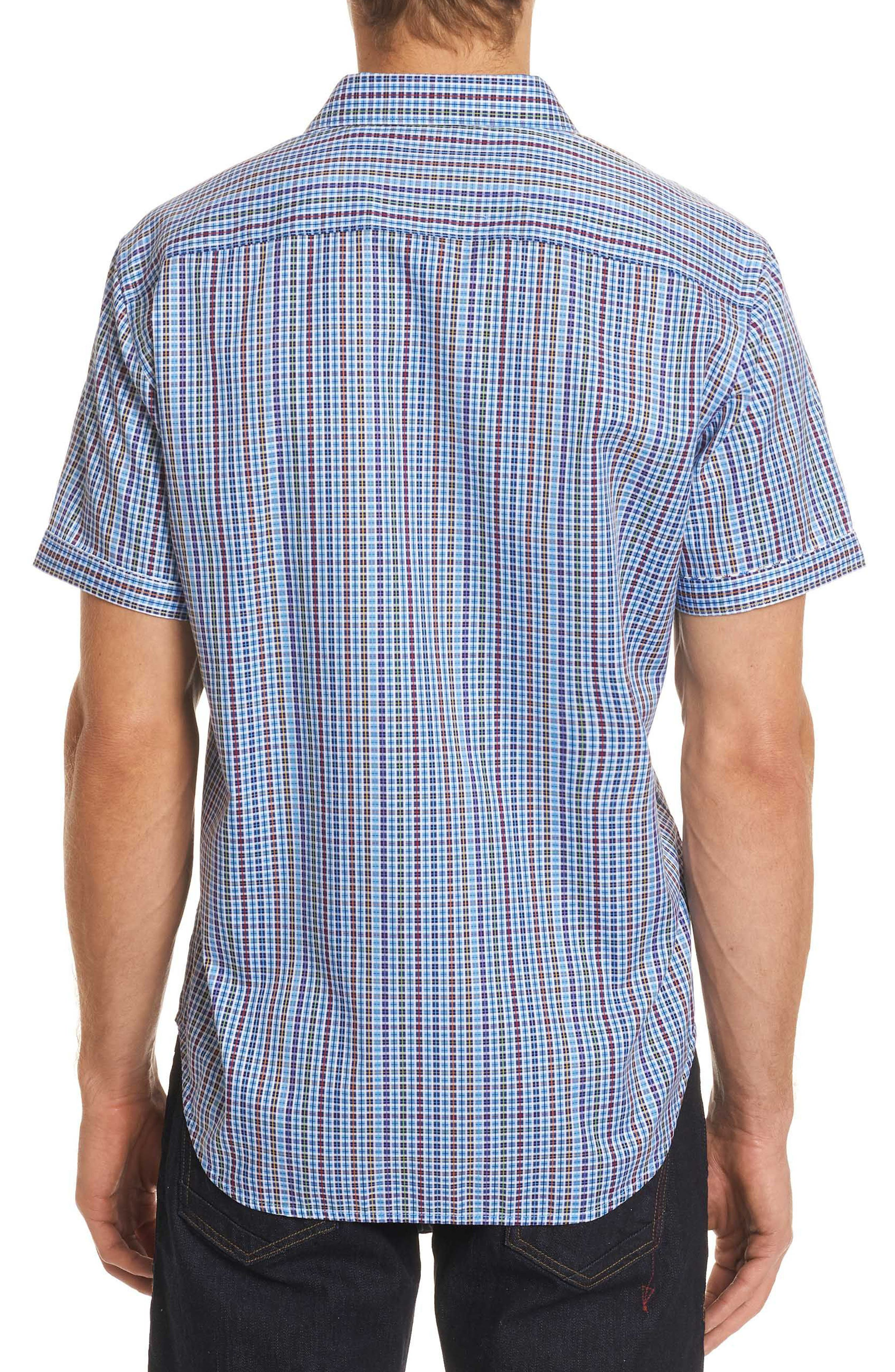 Palma Classic Fit Plaid Sport Shirt,                             Alternate thumbnail 3, color,                             Multi