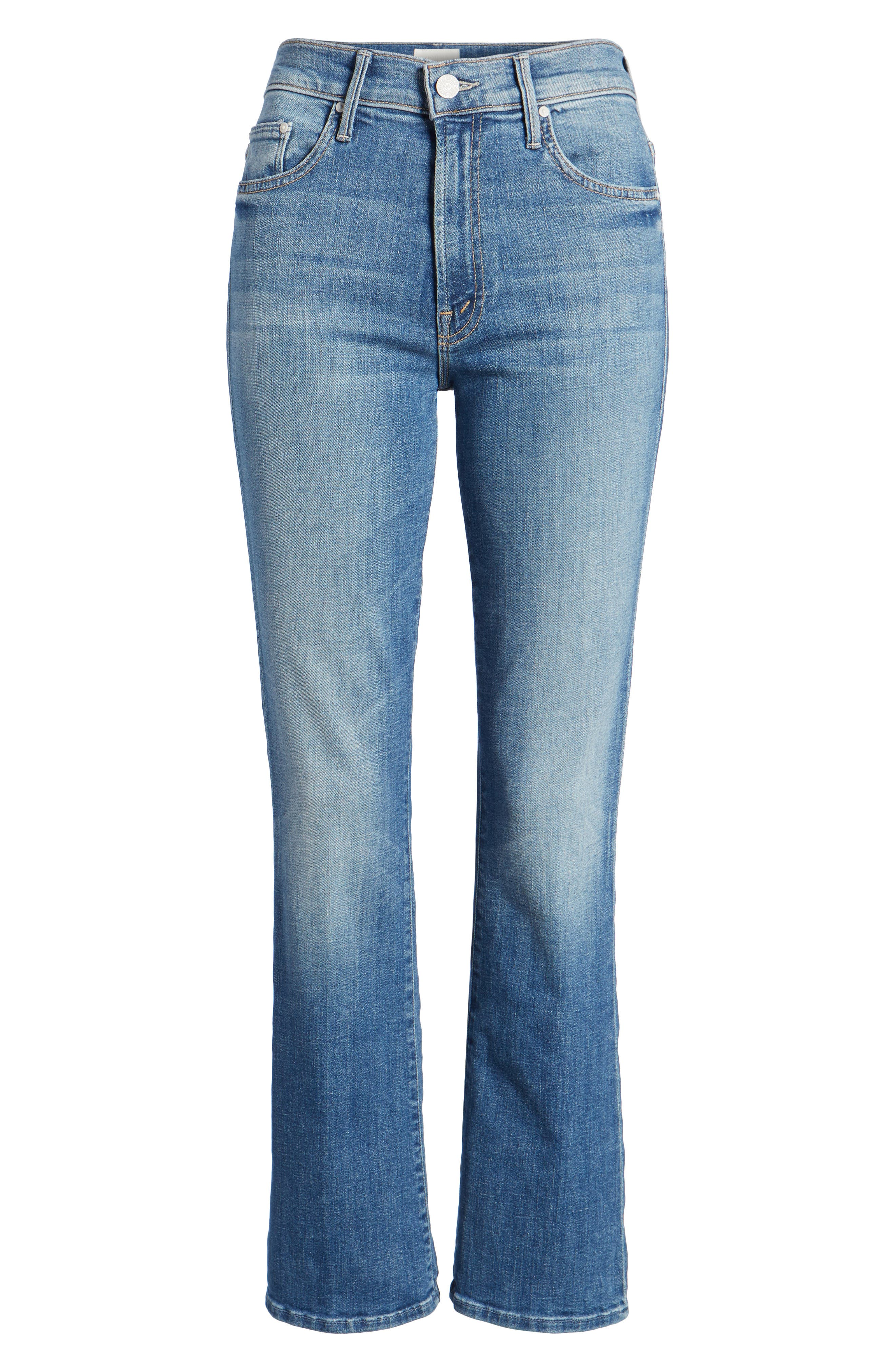 The Insider High Waist Ankle Bootcut Jeans,                             Alternate thumbnail 6, color,                             One Smart Cookie