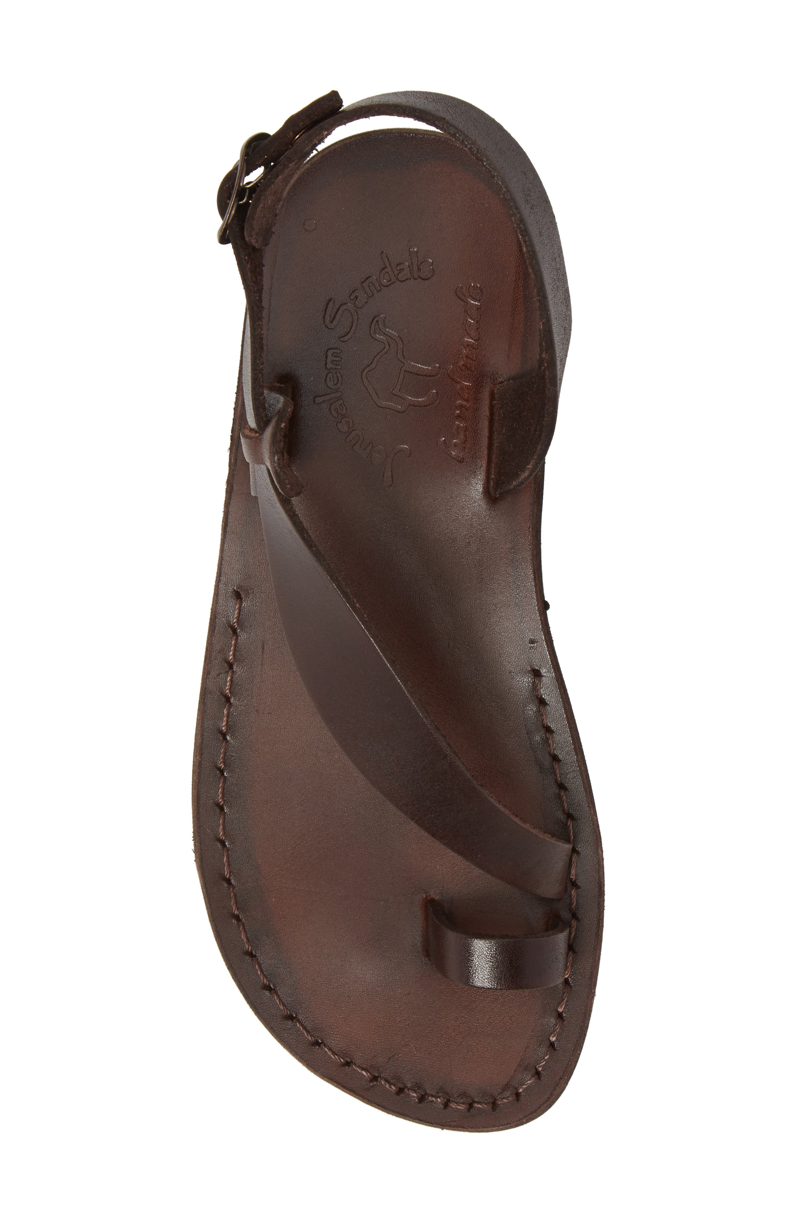 Mia Sandal,                             Alternate thumbnail 5, color,                             Brown Leather
