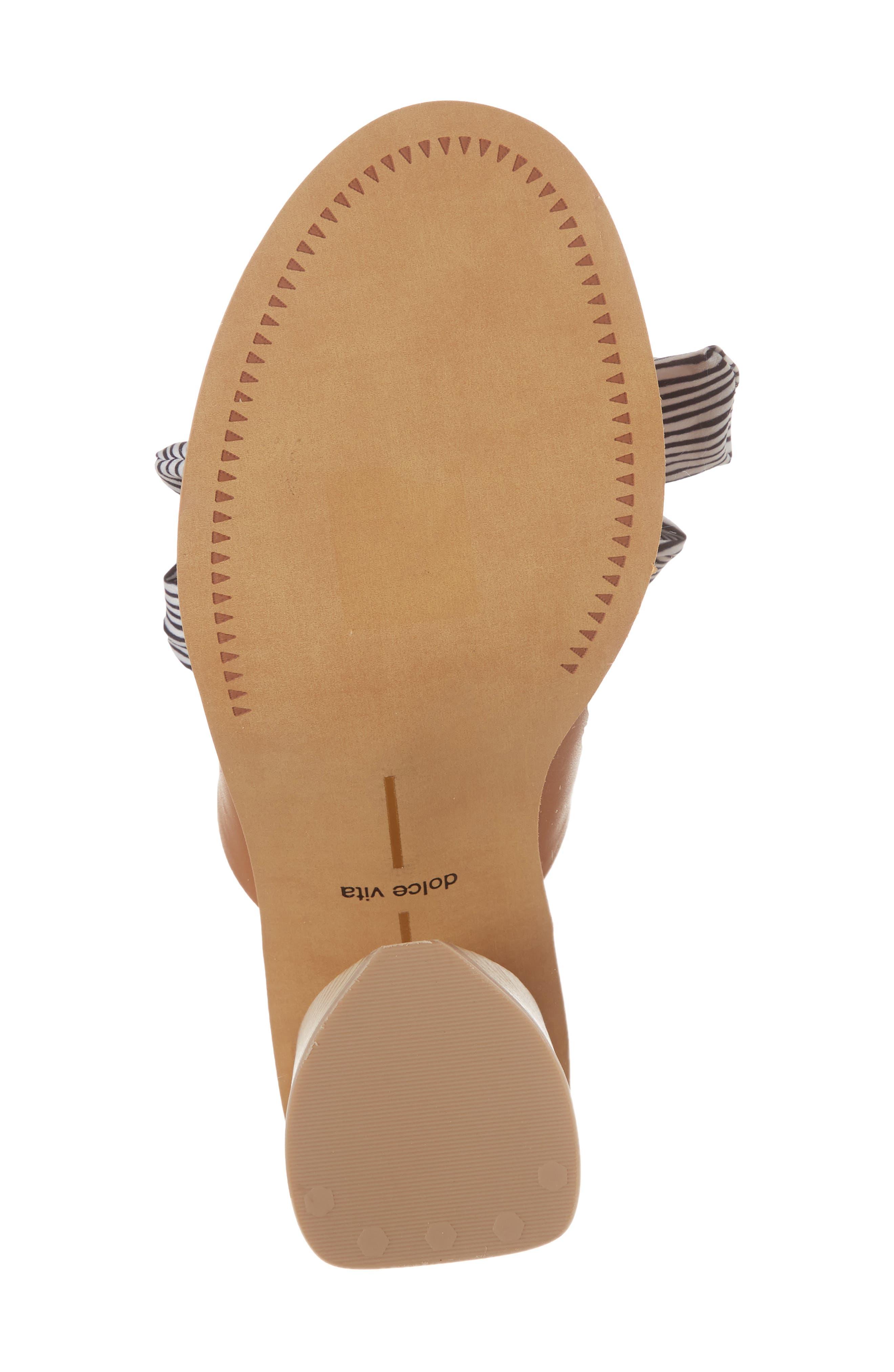 Amber Lace-Up Sandal,                             Alternate thumbnail 6, color,                             Caramel Leather