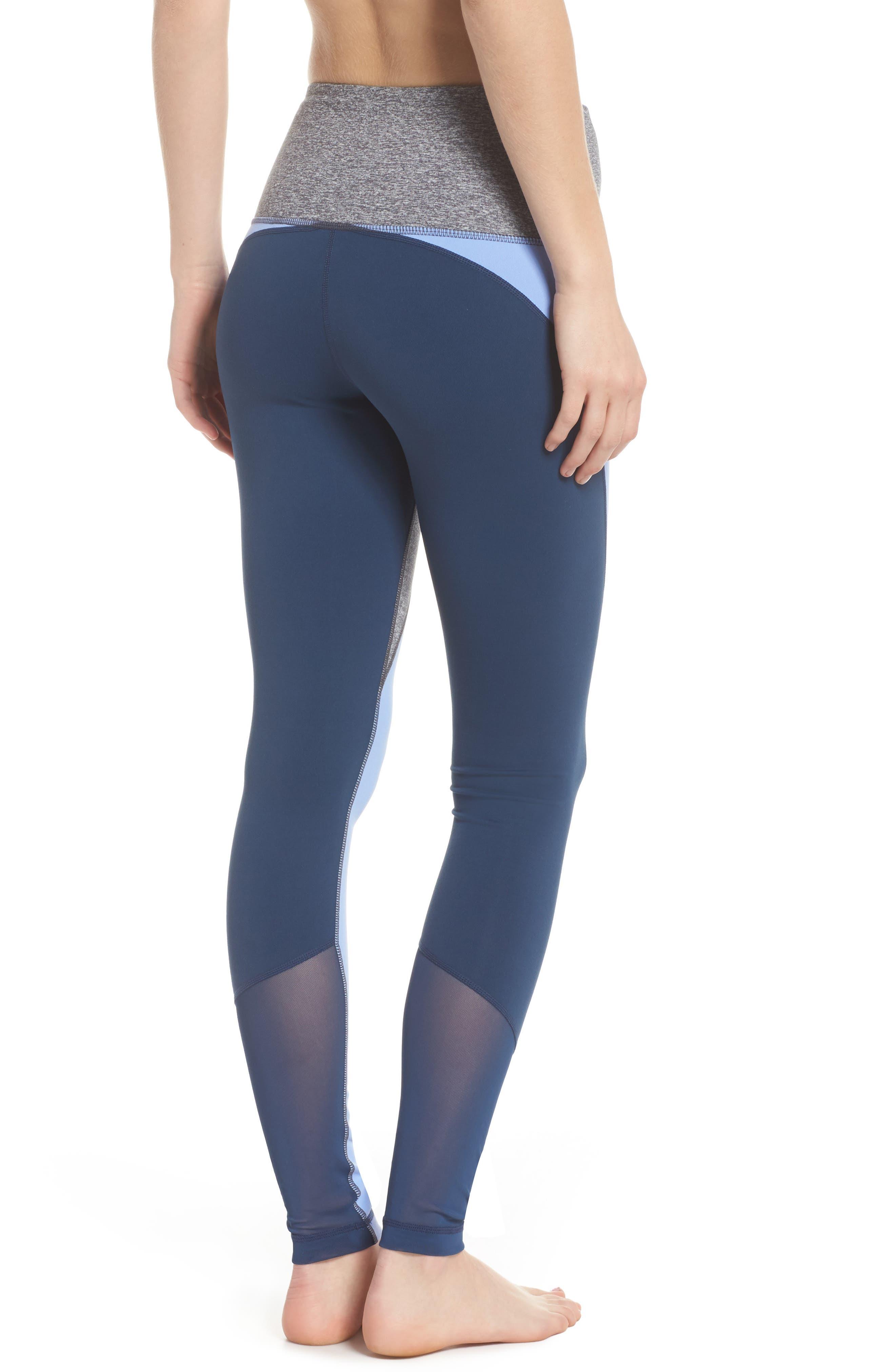 Get in Line High Waist Leggings,                             Alternate thumbnail 2, color,                             Grey Graphite Melange
