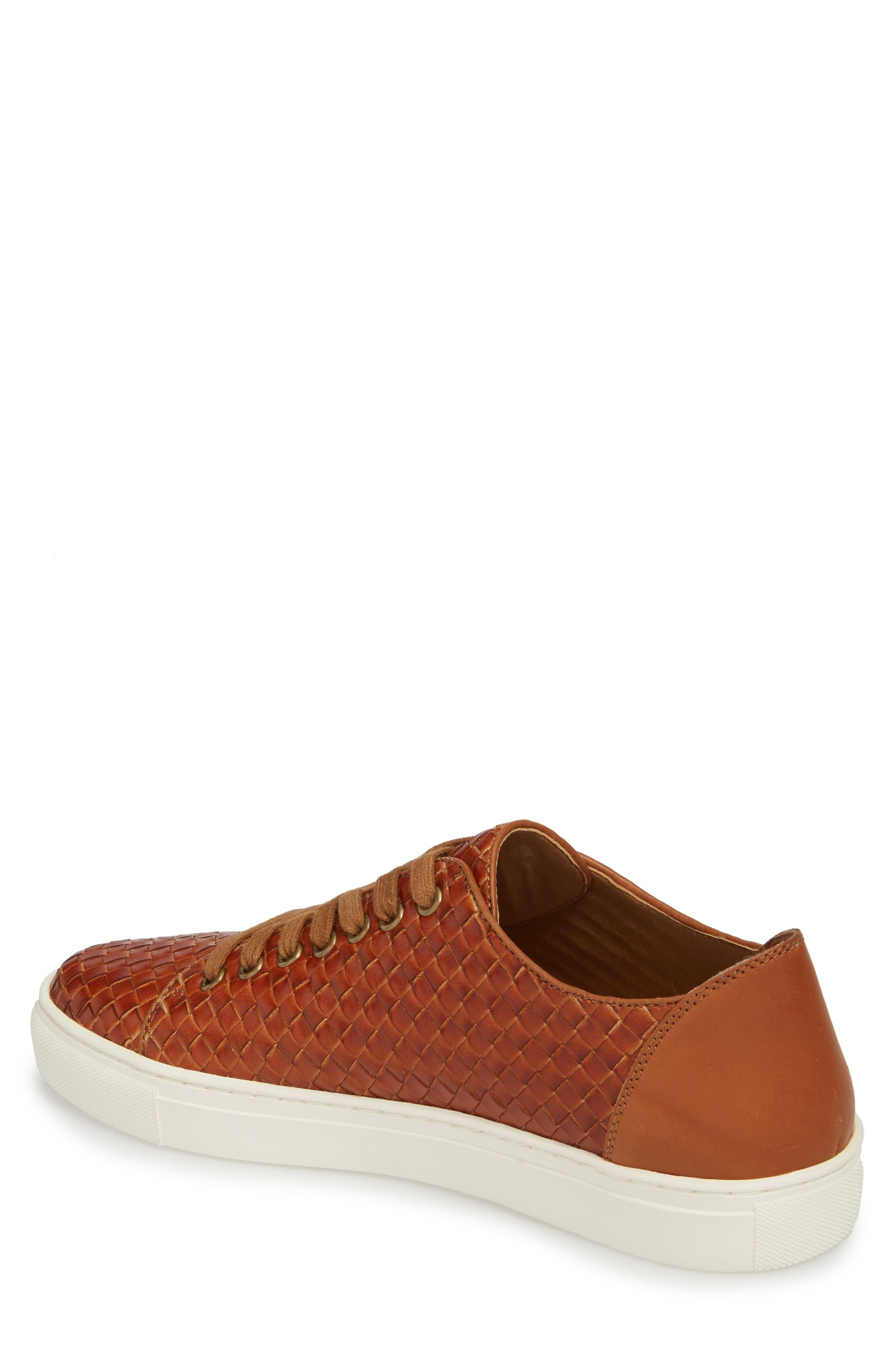 Alto Woven Low Top Sneaker,                             Alternate thumbnail 2, color,                             Saddle Leather