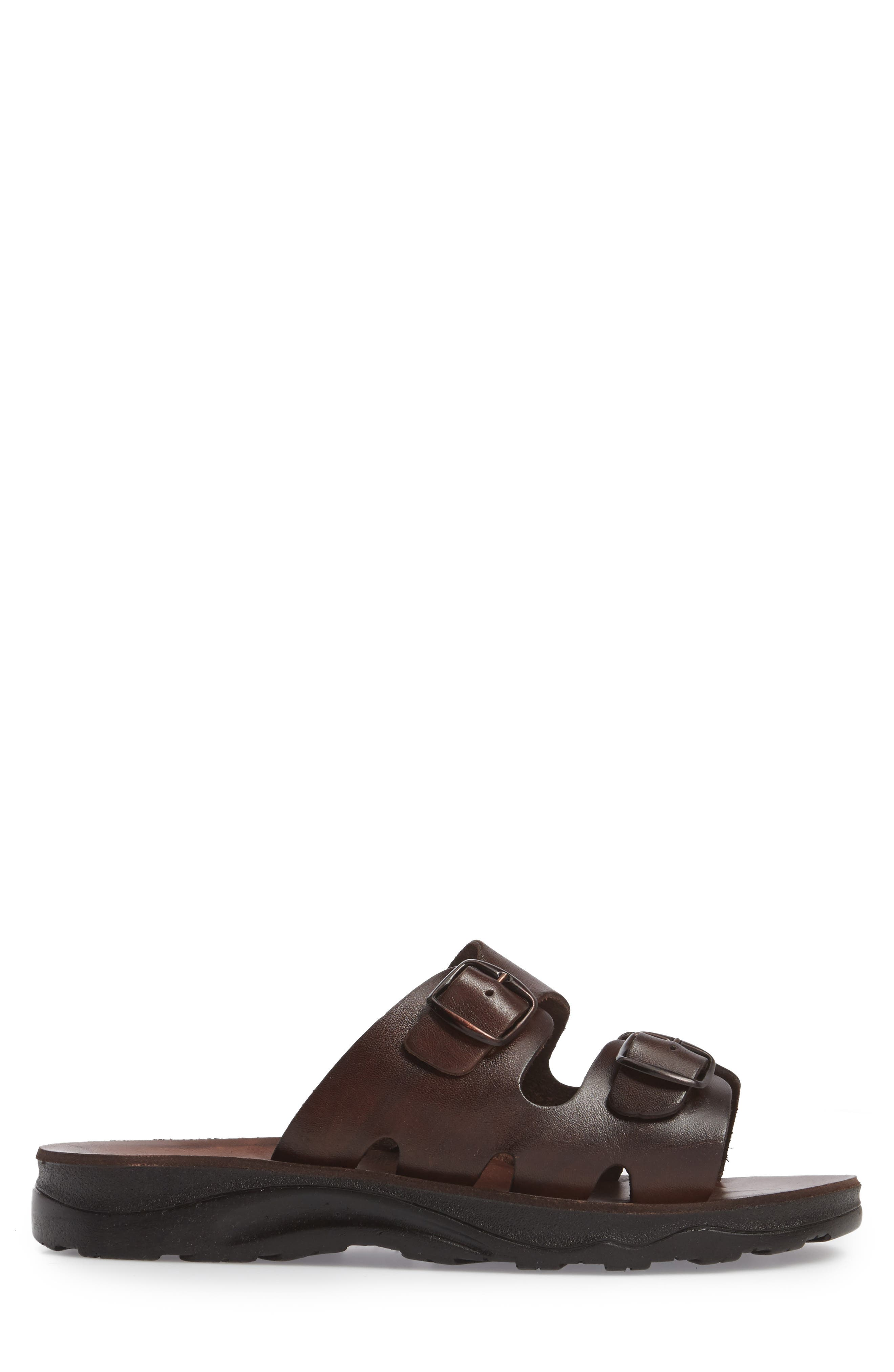 Barnabas Sandal,                             Alternate thumbnail 3, color,                             Brown Leather