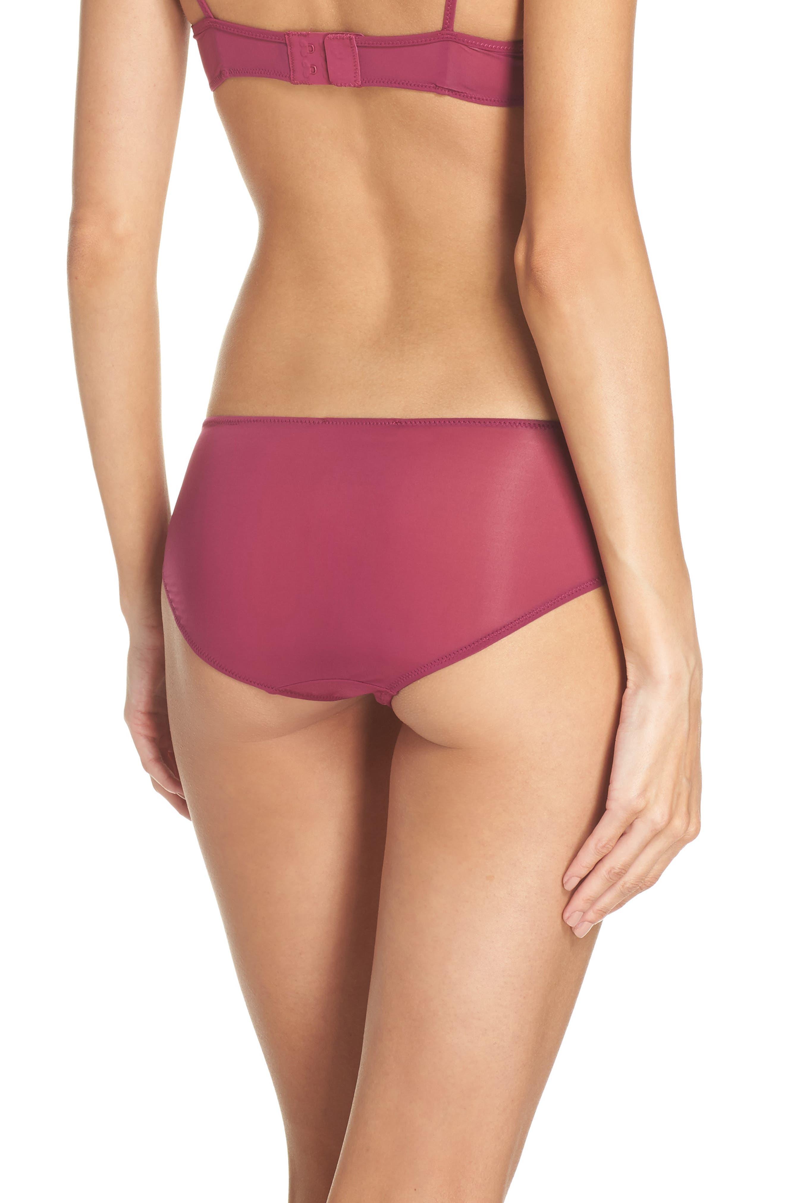 Sheer Mesh Panties,                             Alternate thumbnail 2, color,                             Aubergine