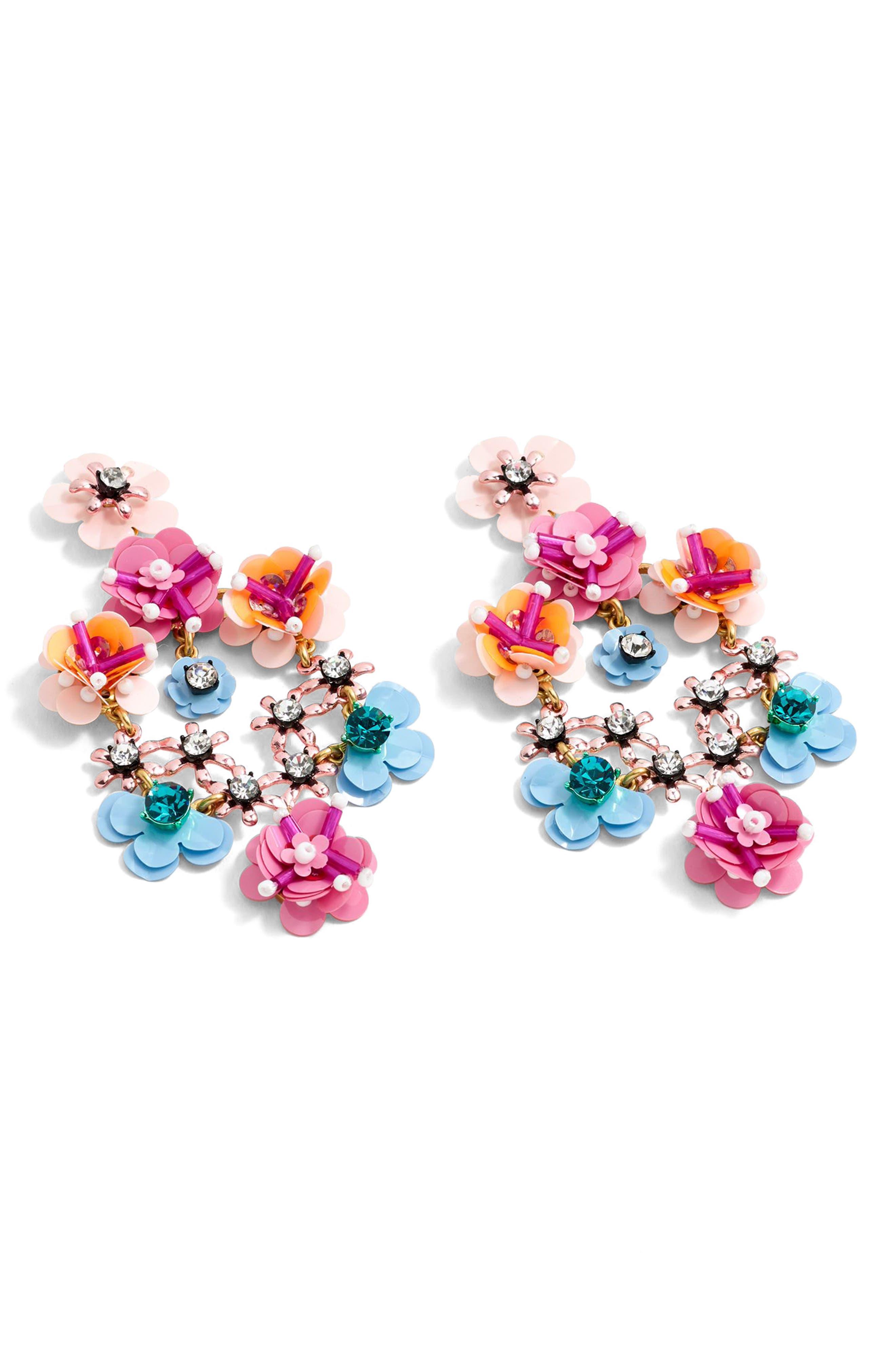 J.Crew Stone & Blossom Earrings