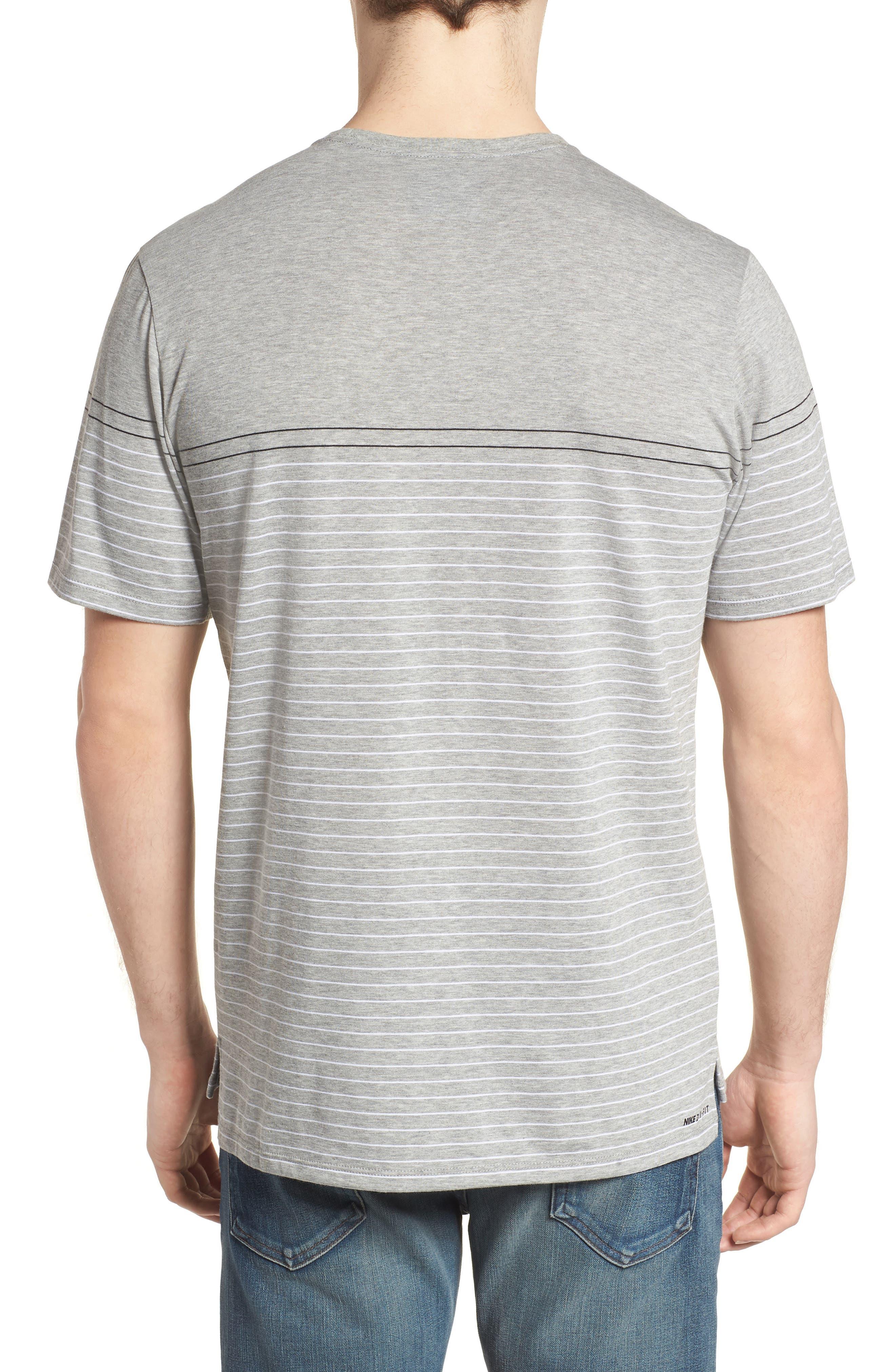 Dry Doheny Stripe T-Shirt,                             Alternate thumbnail 2, color,                             Dark Heather Grey