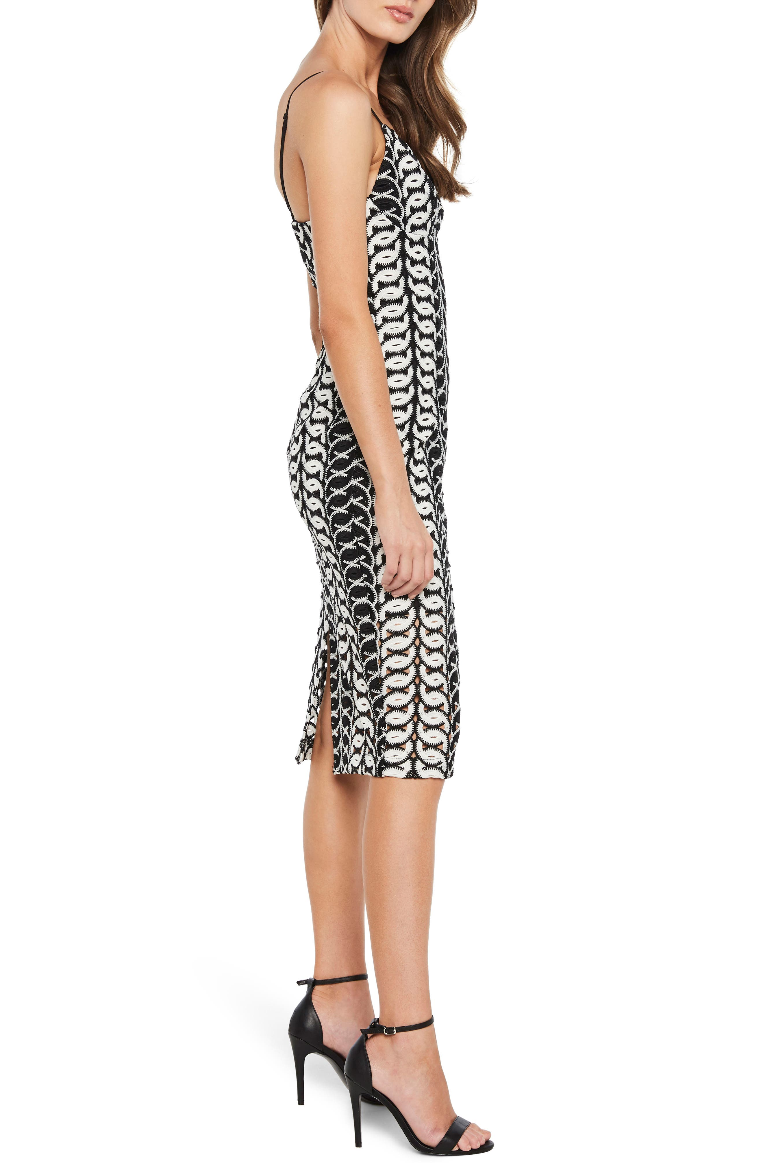 Germaine Lace Dress,                             Alternate thumbnail 3, color,                             Multi-Blk