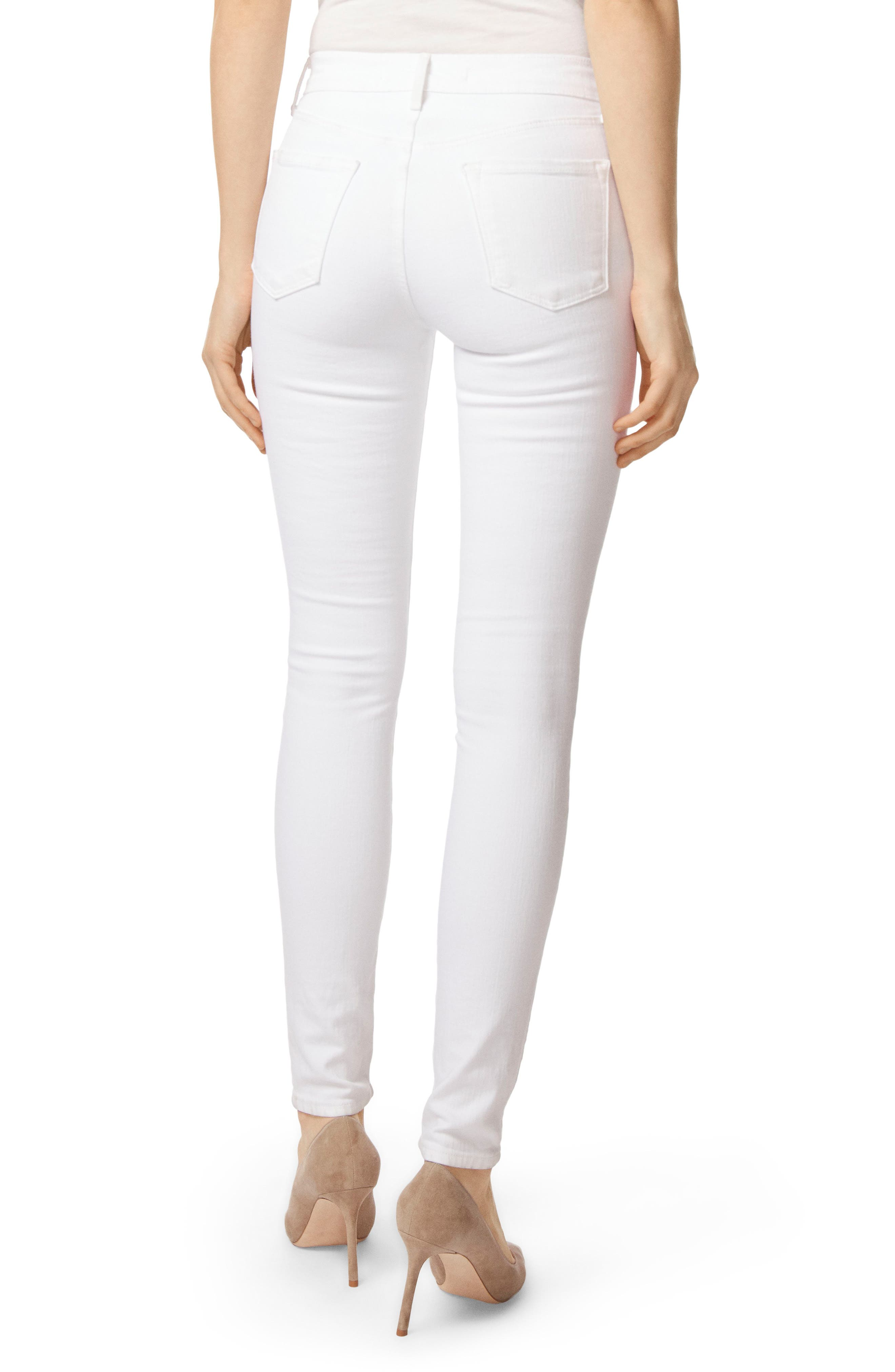 2311 Maria High Waist Super Skinny Jeans,                             Alternate thumbnail 3, color,                             Blanc