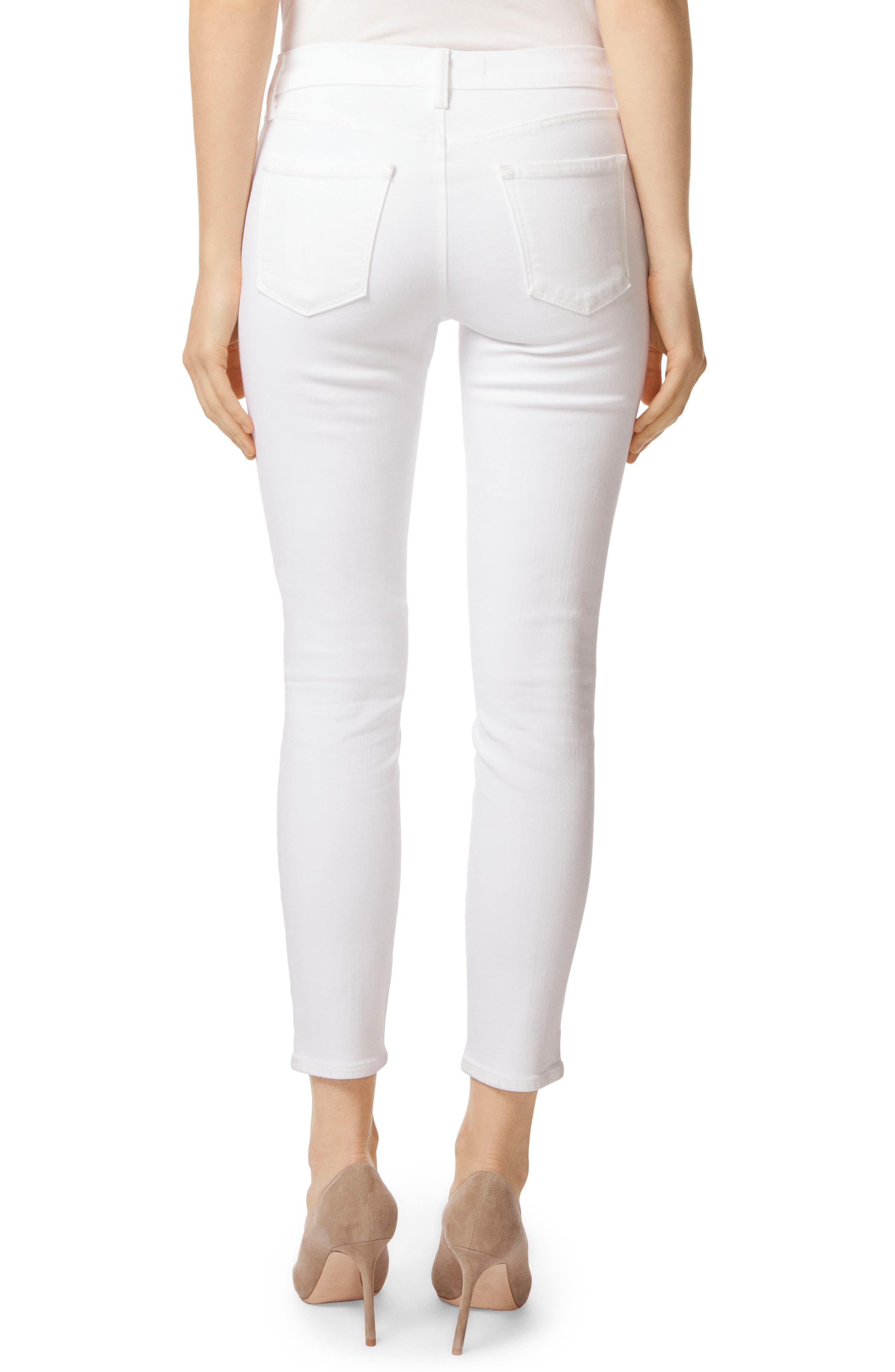 Mid-Rise Capri Skinny Jeans,                             Alternate thumbnail 2, color,                             White