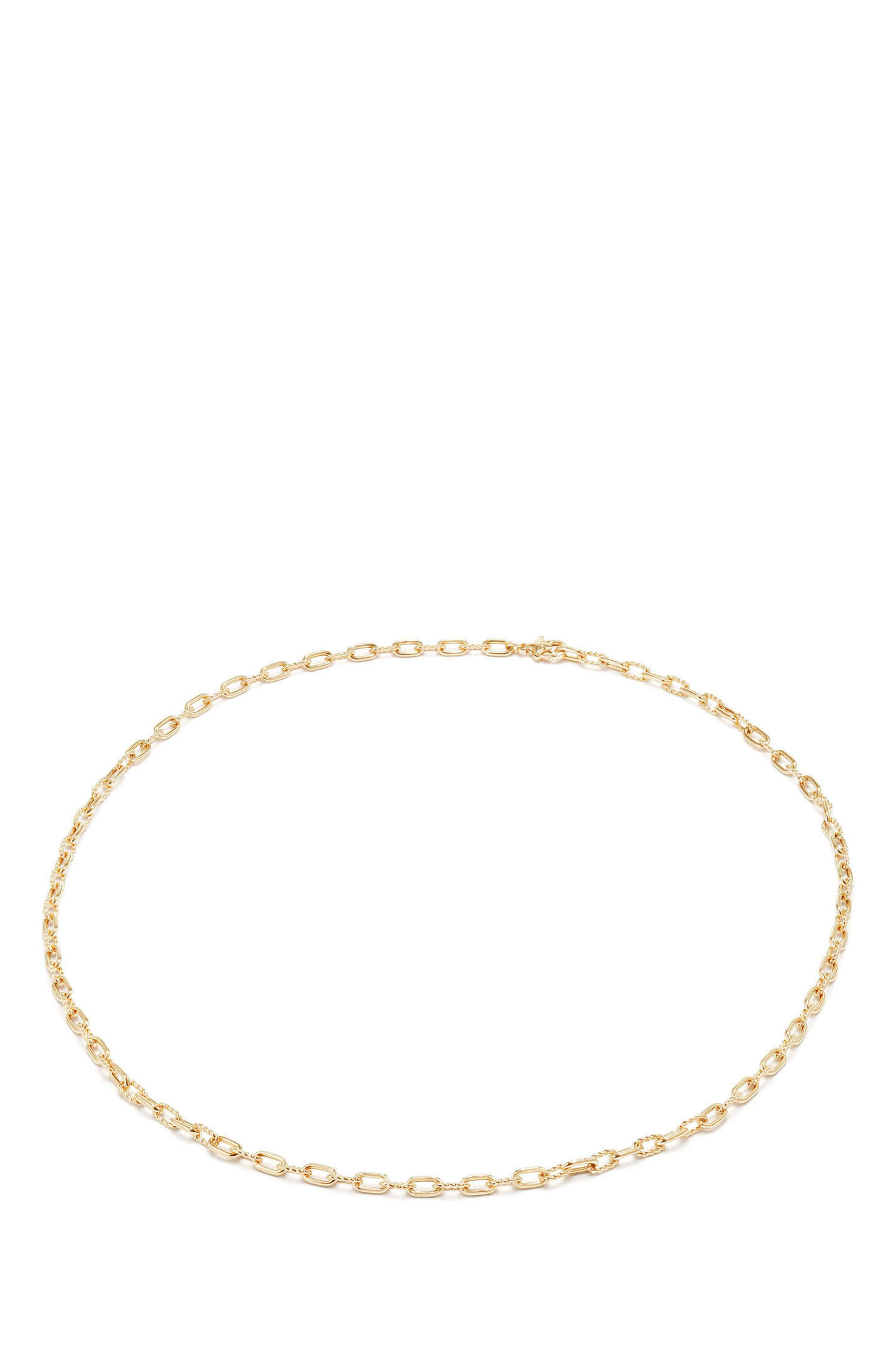 DY Madison Thin Chain Necklace in 18K Gold,                             Alternate thumbnail 2, color,                             Gold
