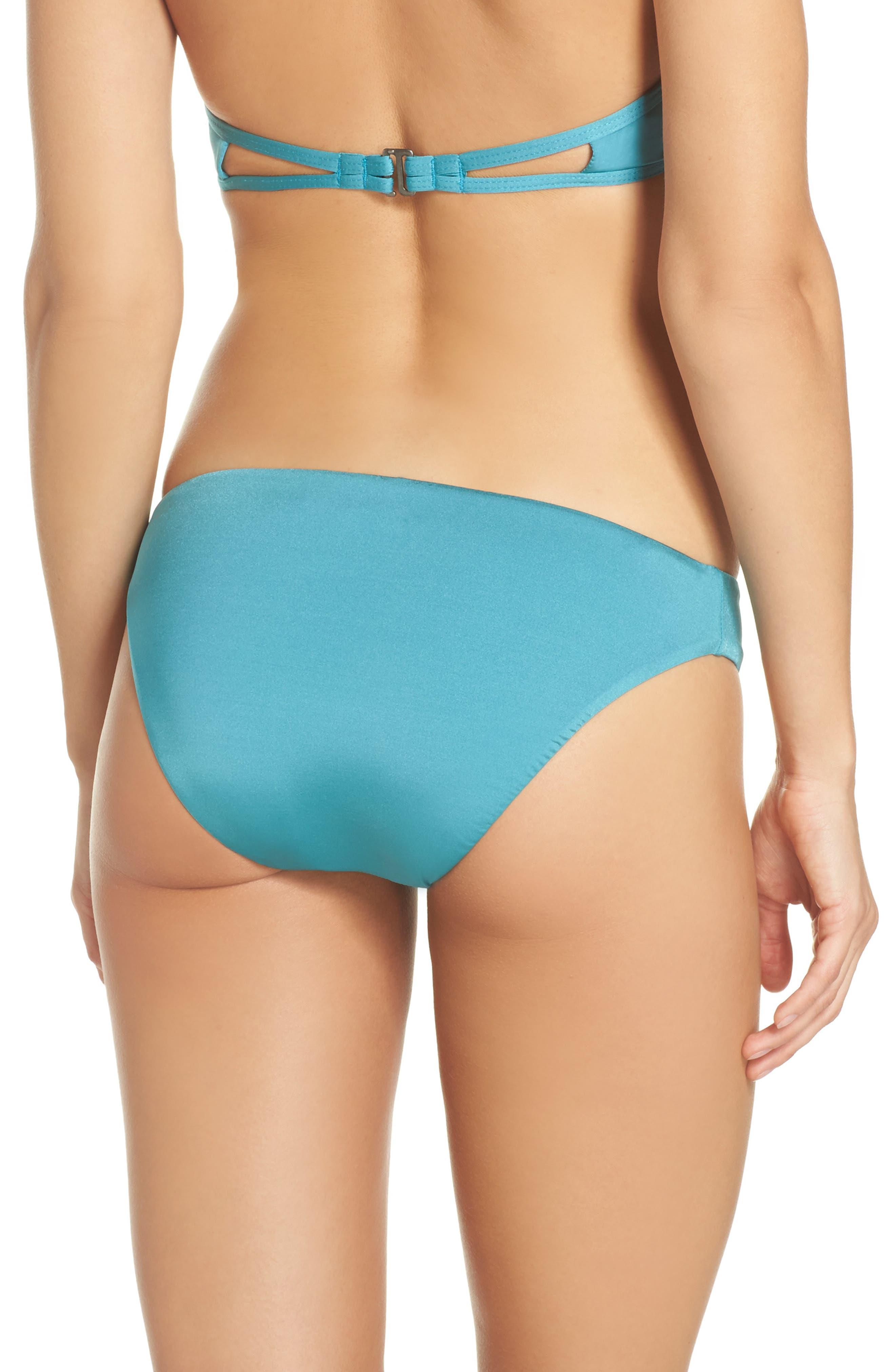 Hipster Bikini Bottoms,                             Alternate thumbnail 2, color,                             Aqua