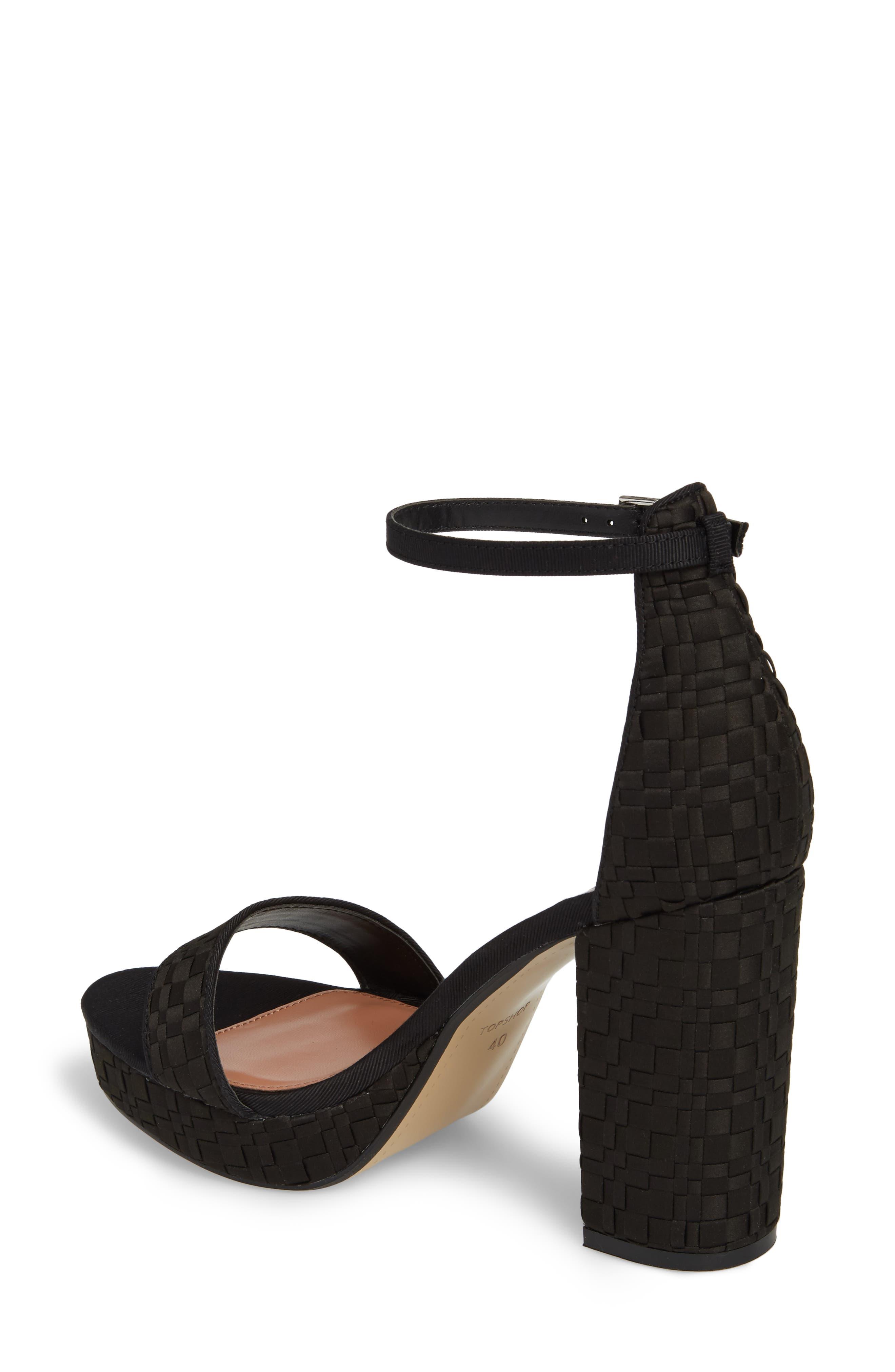 Sloane Woven Platform Sandal,                             Alternate thumbnail 2, color,                             Black