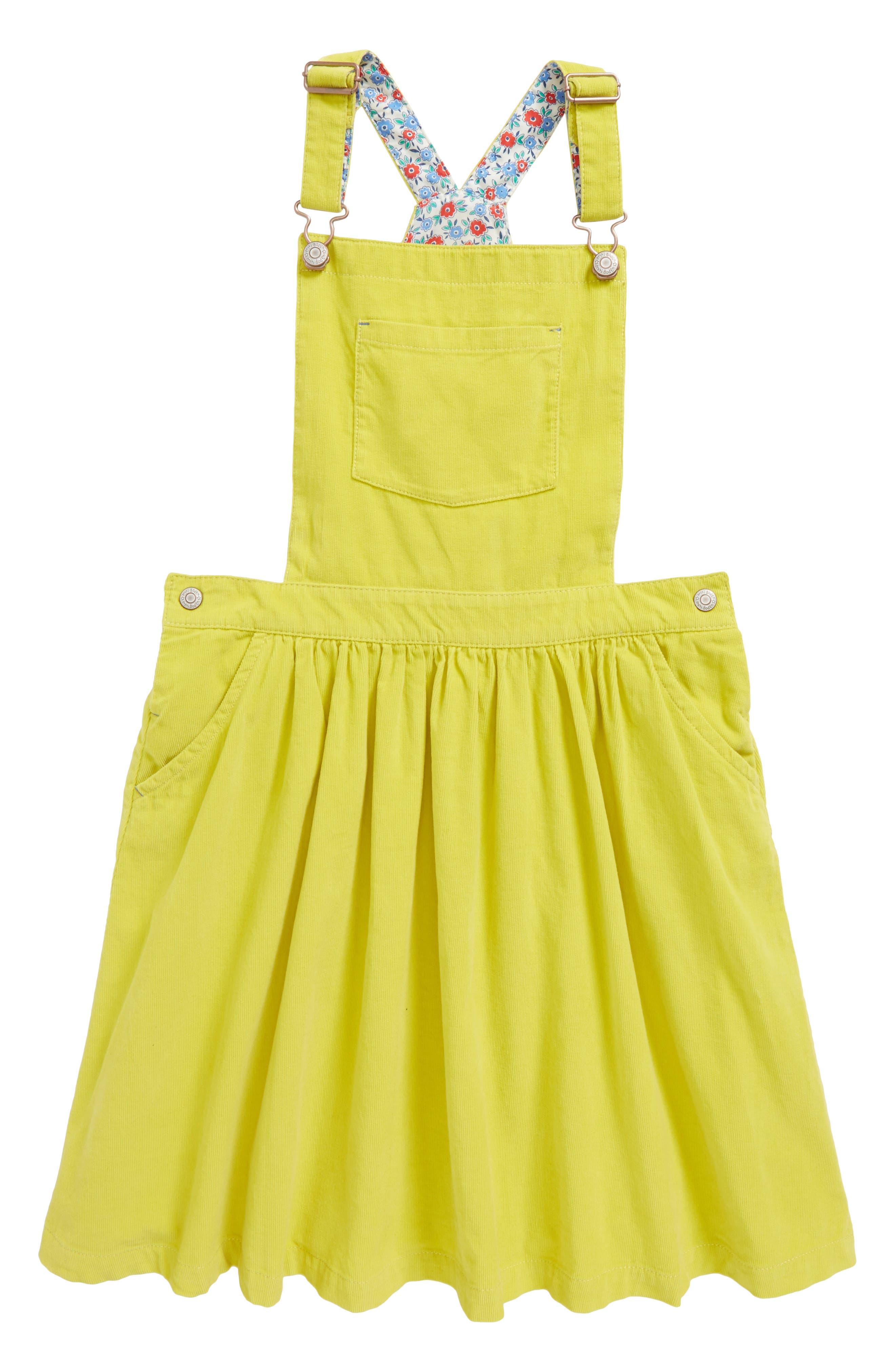 Corduroy Dress,                             Main thumbnail 1, color,                             Zest Yellow